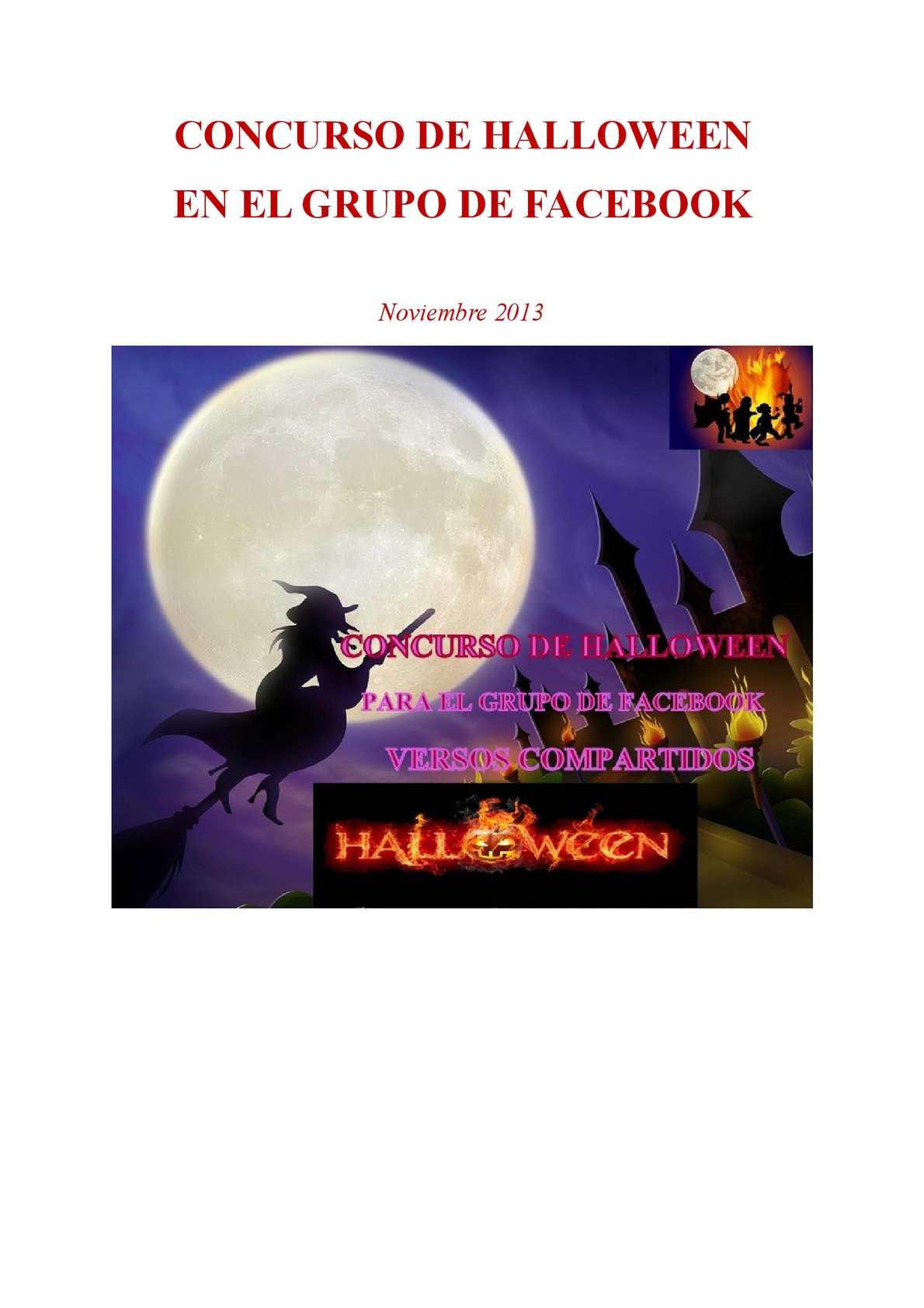 Calam o poemas del concurso de halloween en el grupo for Grupo facebook
