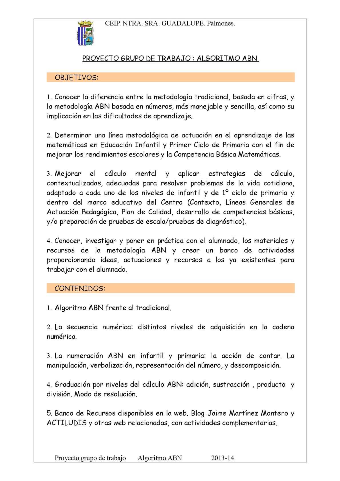 Calaméo - GRUPO DE TRABAJO ALGORITMO ABN