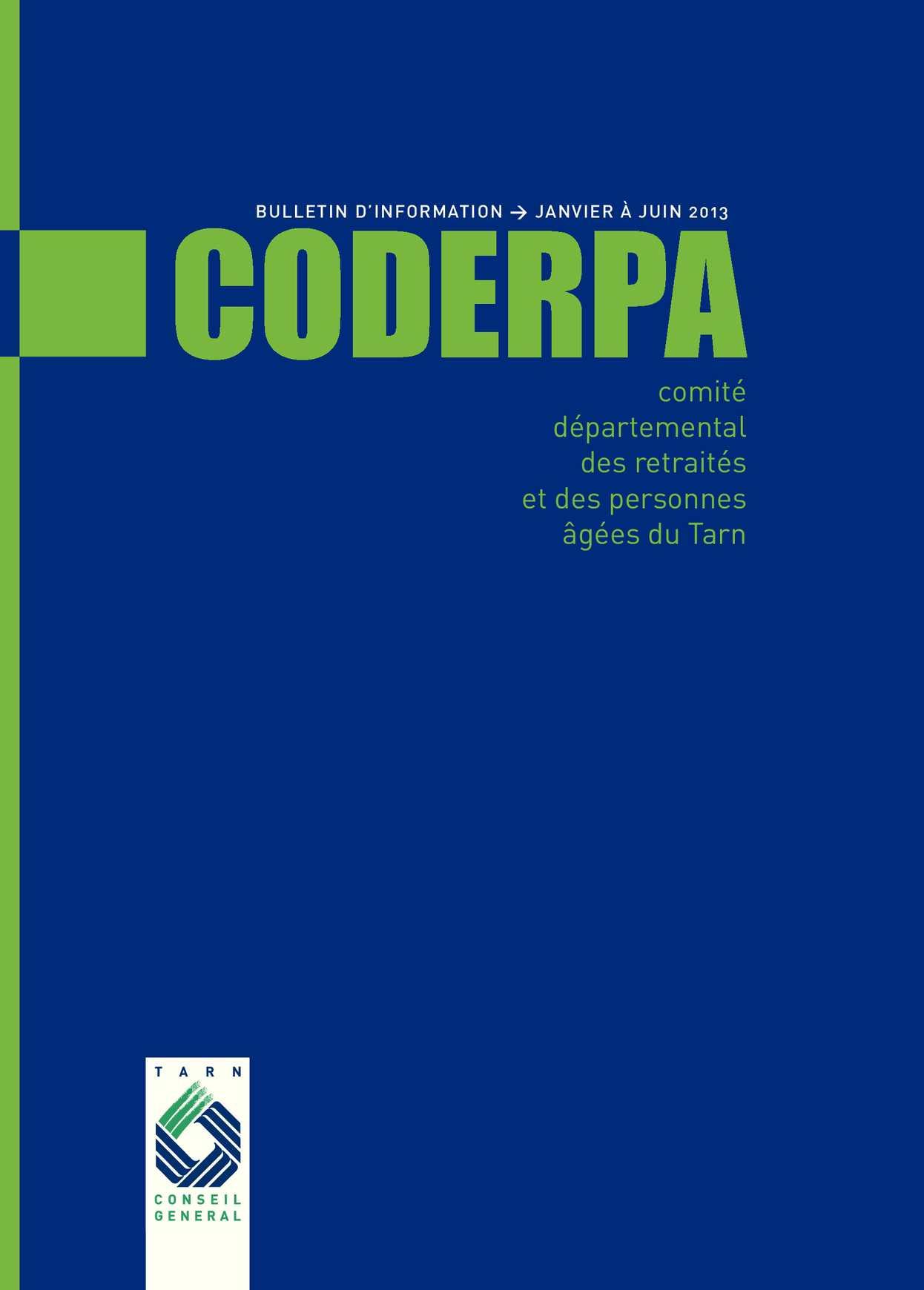 Bulletin du CODERPA Janvier/Juin 2013