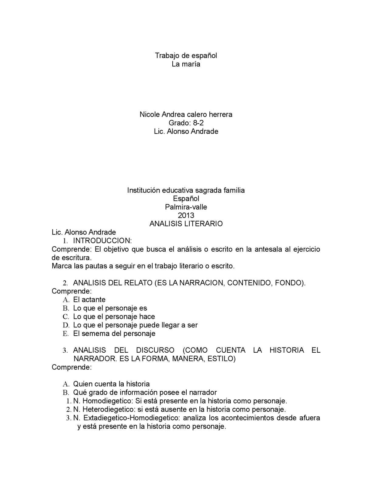 Calaméo - Análisis literario Libro La Maria