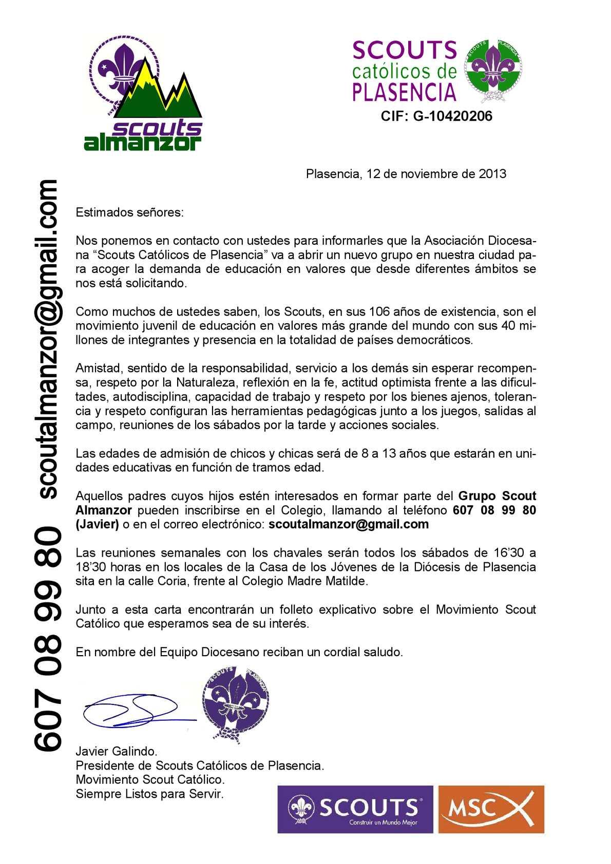 Calaméo - CARTA CIRCULAR PRESENTACIÓN SCOUTS ALMANZOR