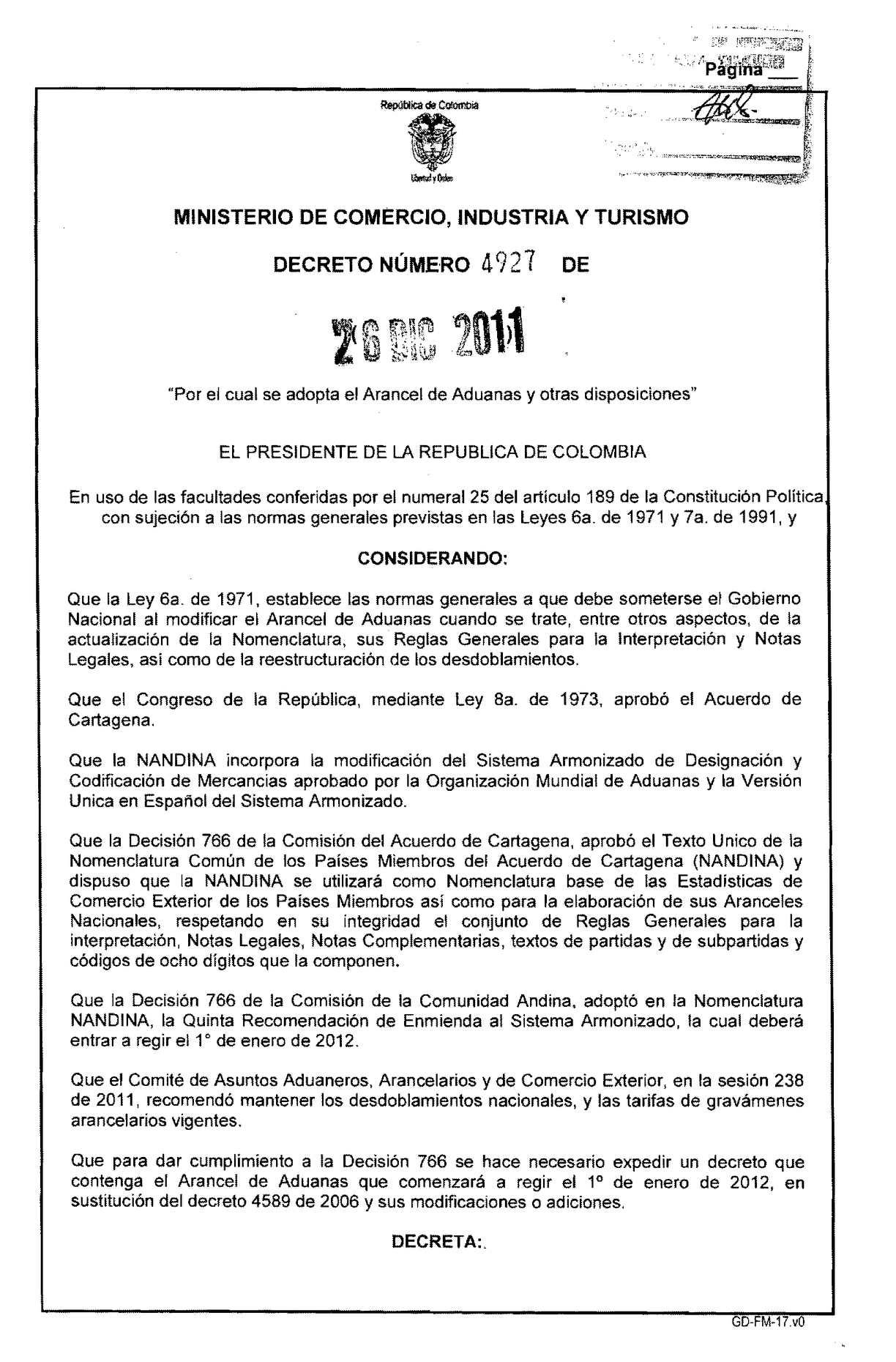 Calaméo - NORMATIVIDAD ARANCEL DE ADUANAS COLOMBIANO