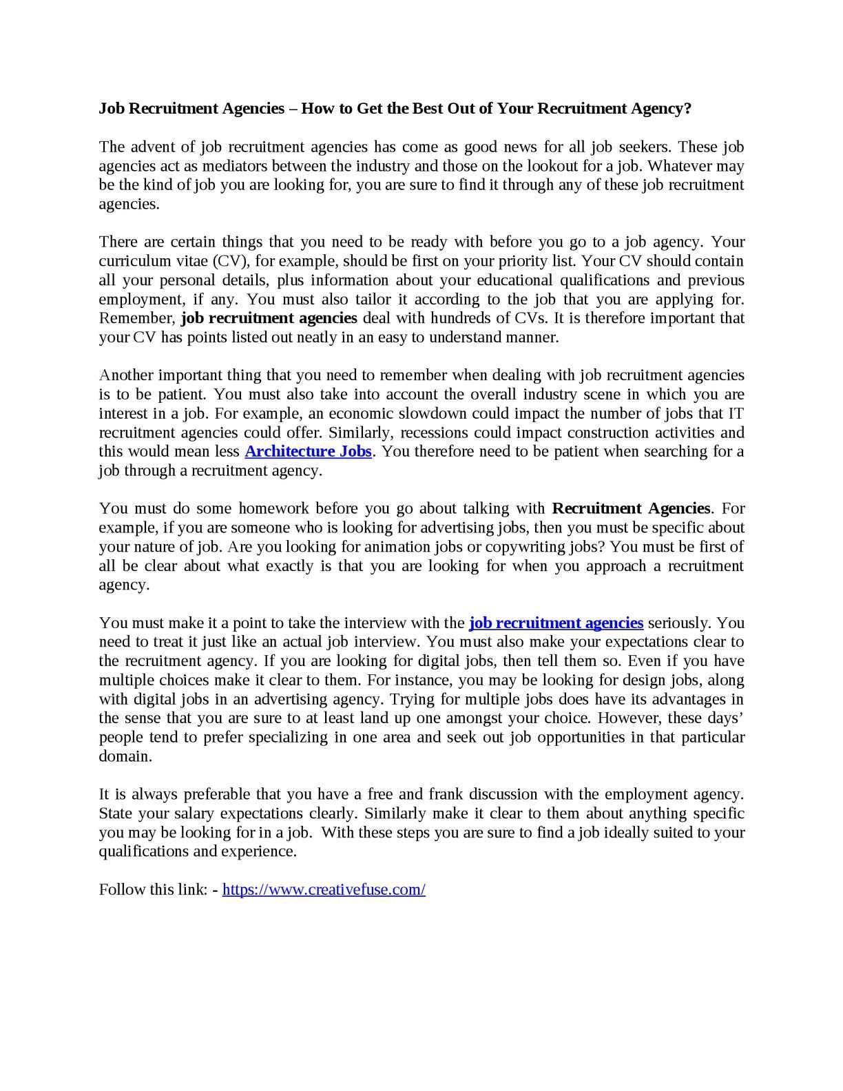 Calameo Job Recruitment Agencies