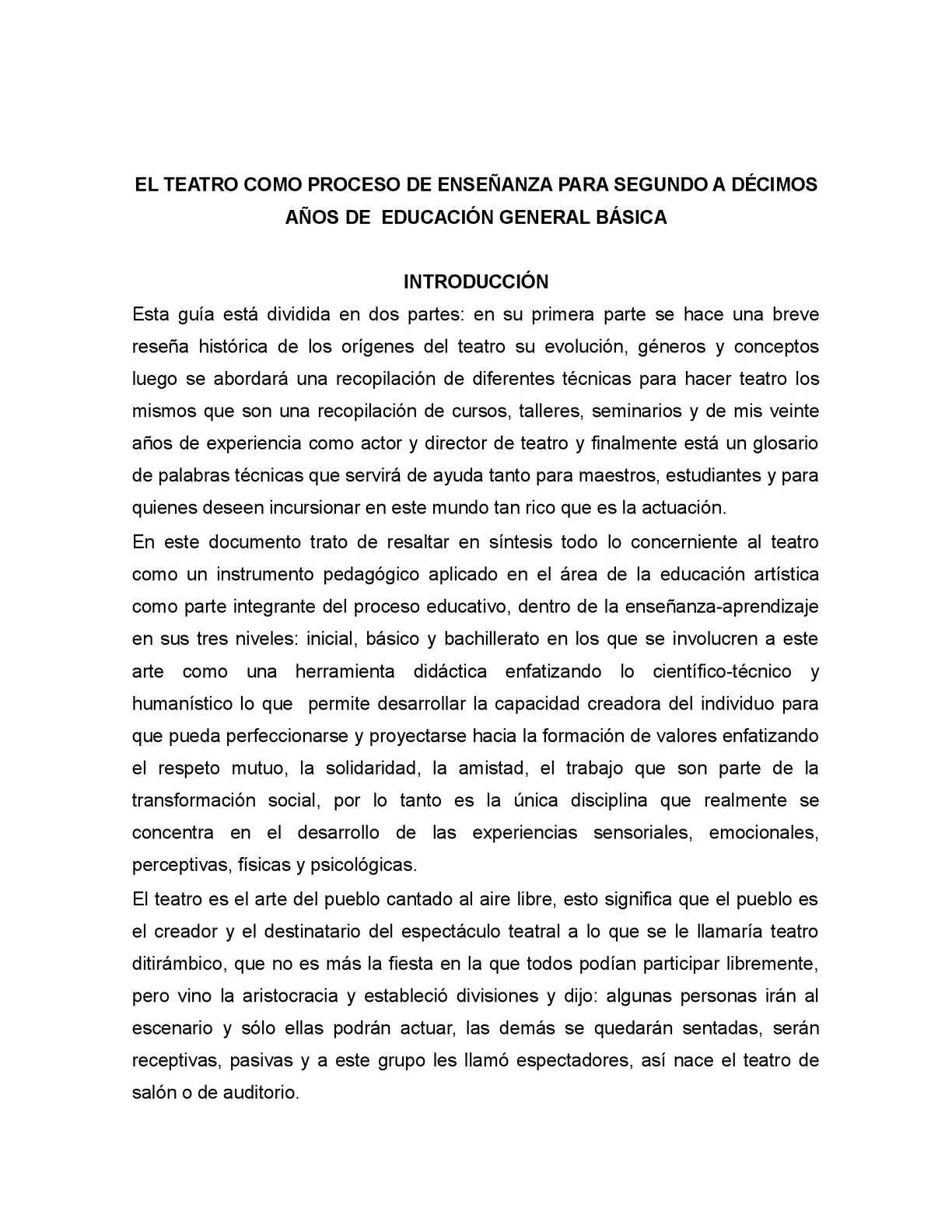 Calaméo - El Teatro para Educacion General Basica