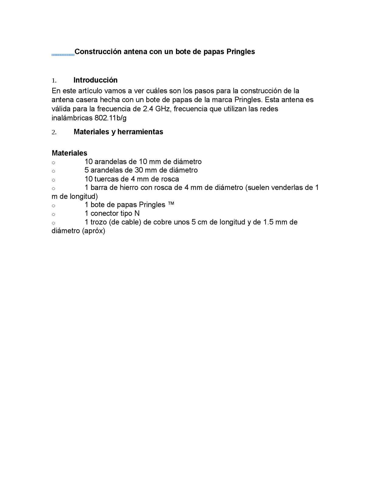 Manual Construcción Antena WIFI ConUn Bote de Papas Pringles