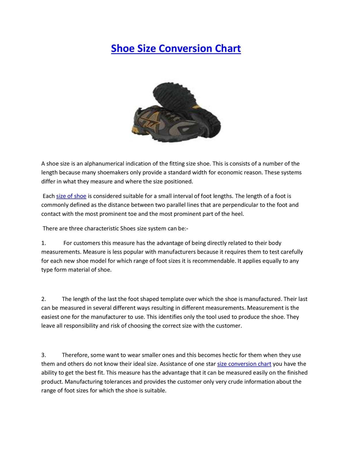 Calamo Shoe Size Conversion Chart