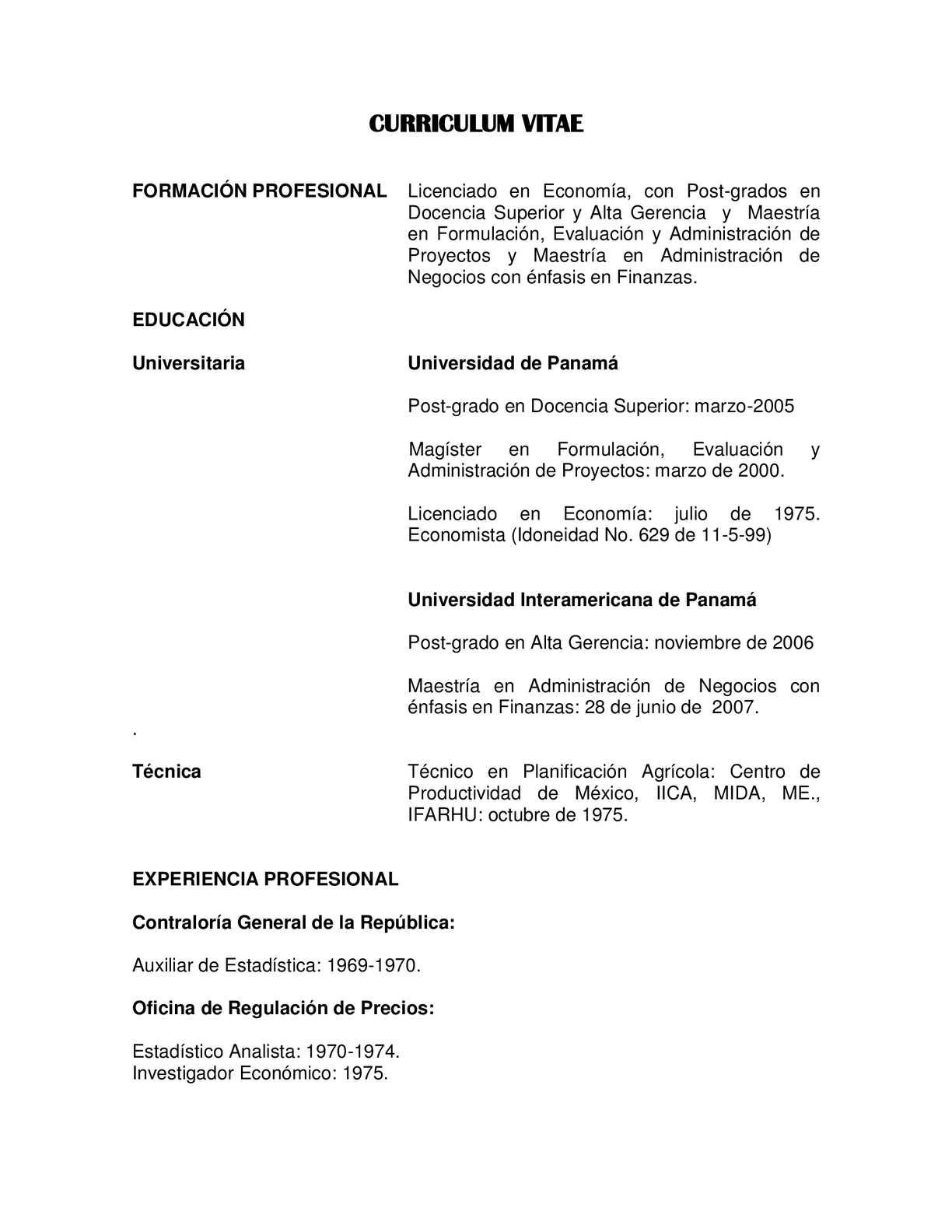 Calaméo - Hoja de Vida del Profesor Carlos León