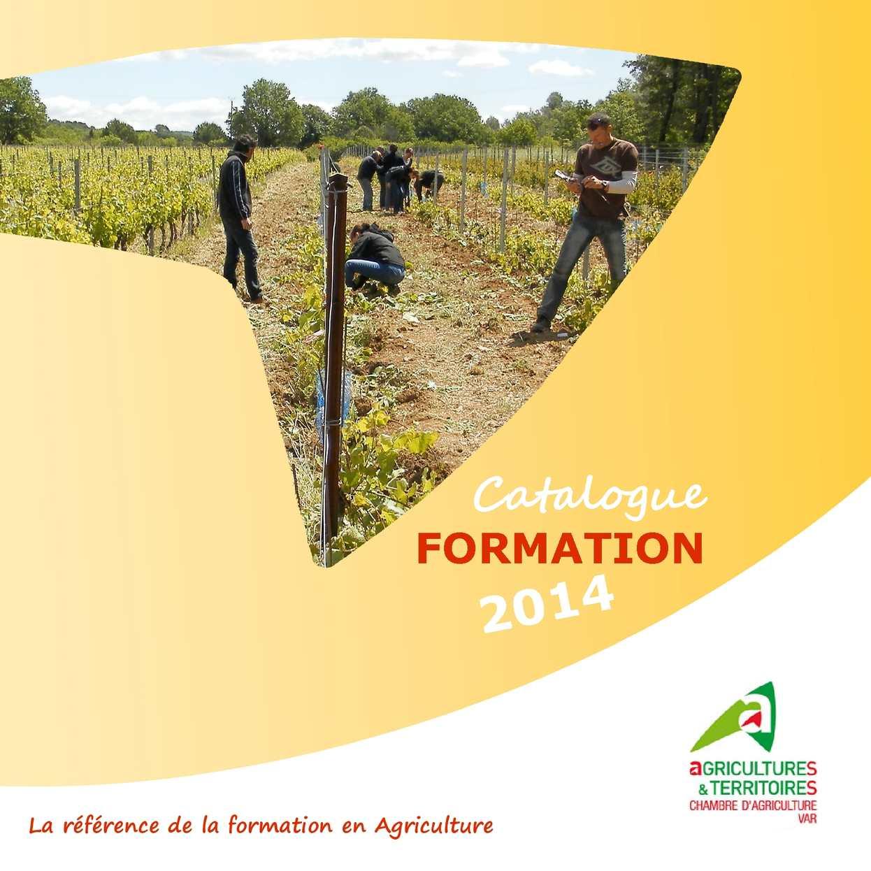 Calam o catalogue formation 2014 chambre d 39 agriculture for Chambre d agriculture 35