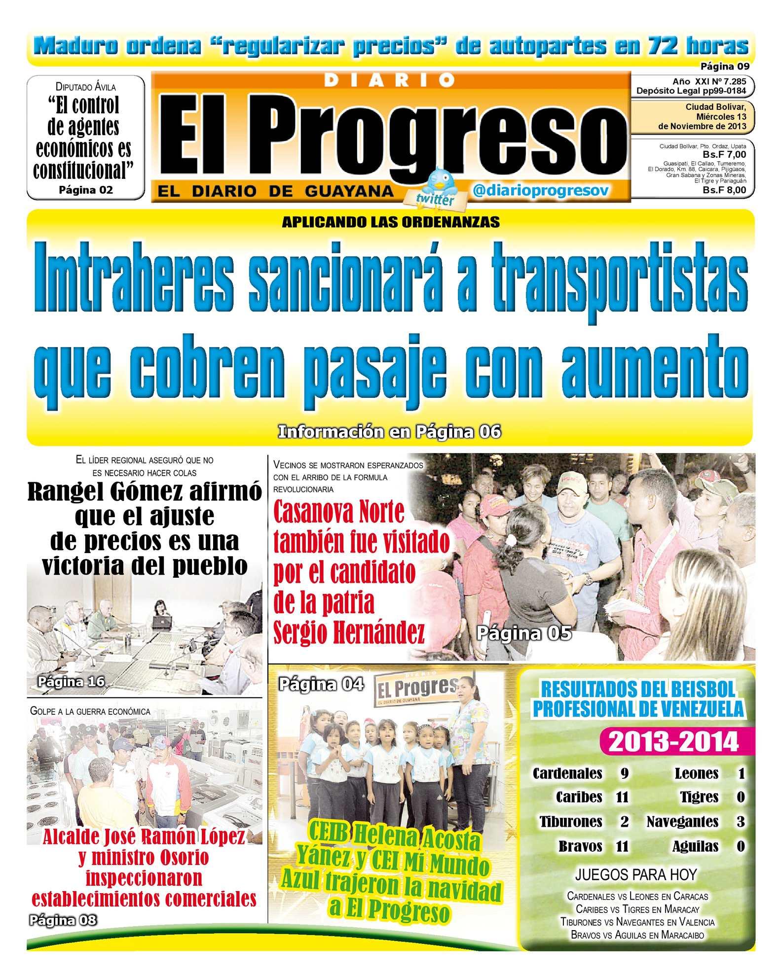 Calaméo - DIARIO EL PROGRESO EDICIÓN DIGITAL 13-11-2013