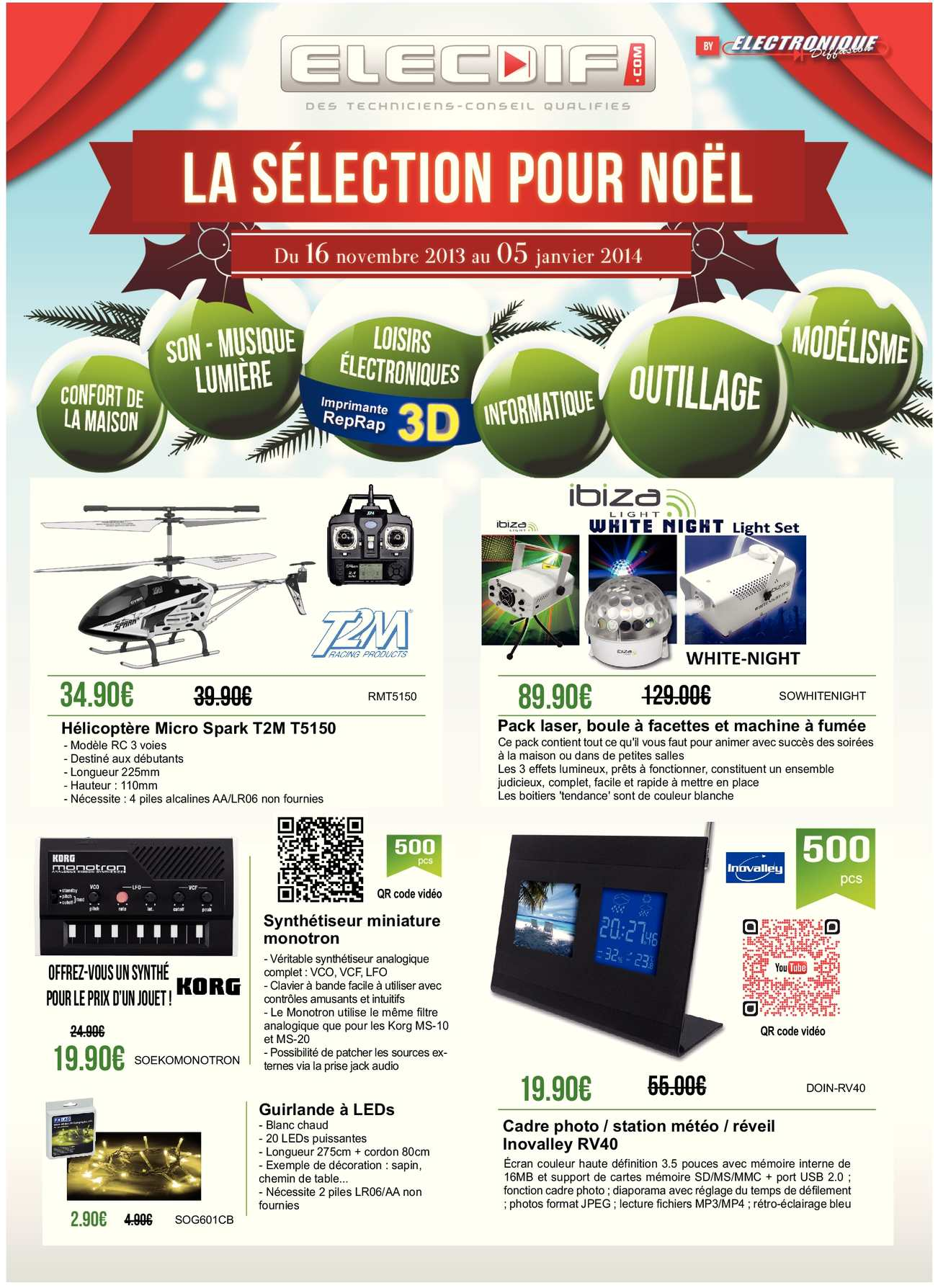 calam o elecdif promotion de no l 2013 id es cadeaux. Black Bedroom Furniture Sets. Home Design Ideas