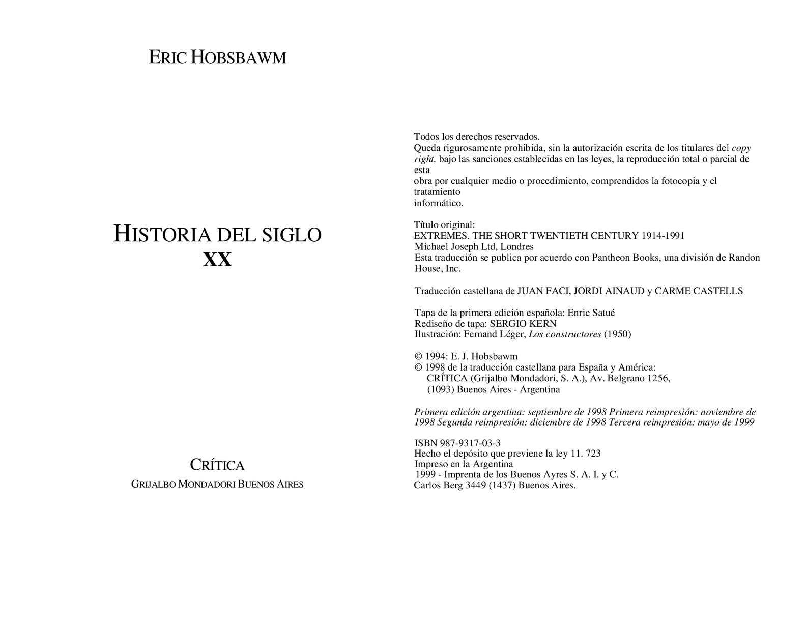 Calaméo - Eric Hobsbaum: Historia del siglo XX - obra completa -