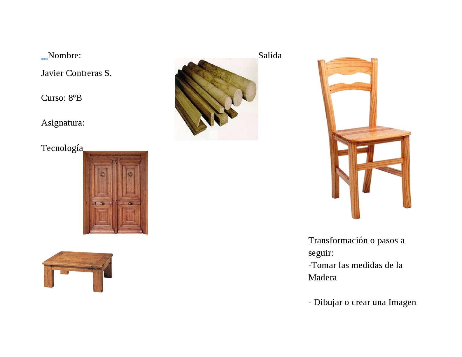 Calam o proceso productivo de la silla for Sillas para dibujar facil