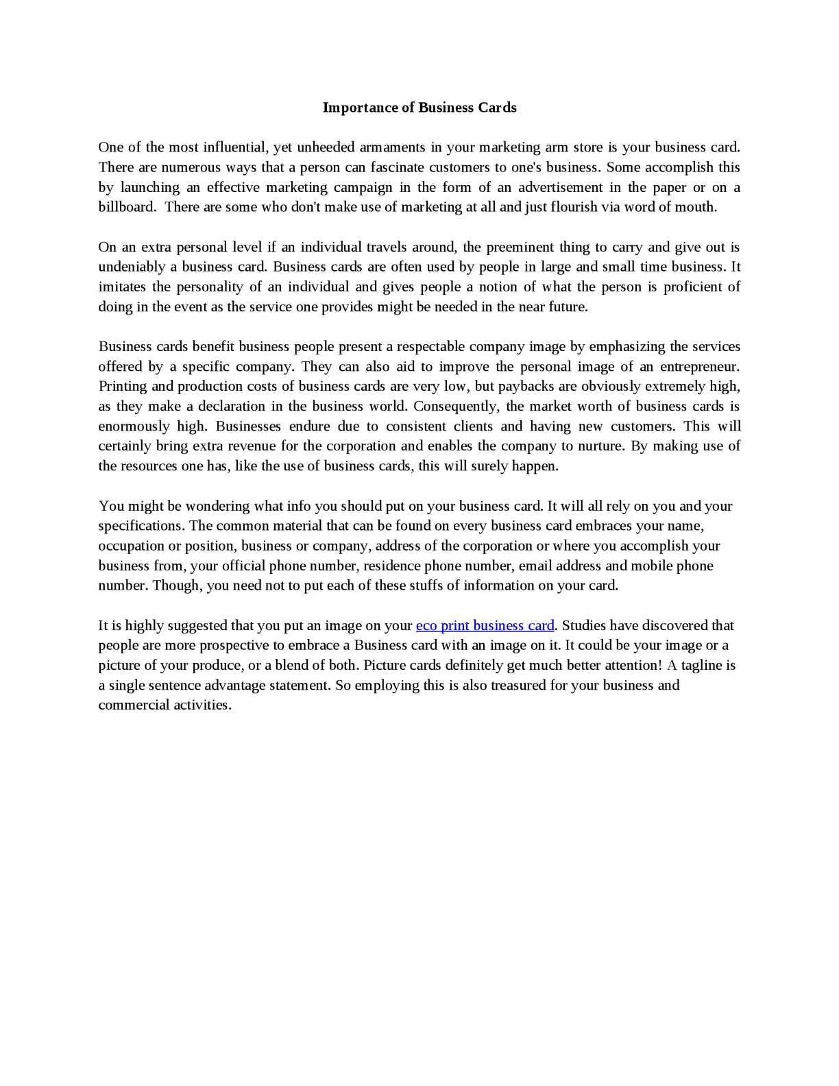 Calaméo - Importance of Business Cards
