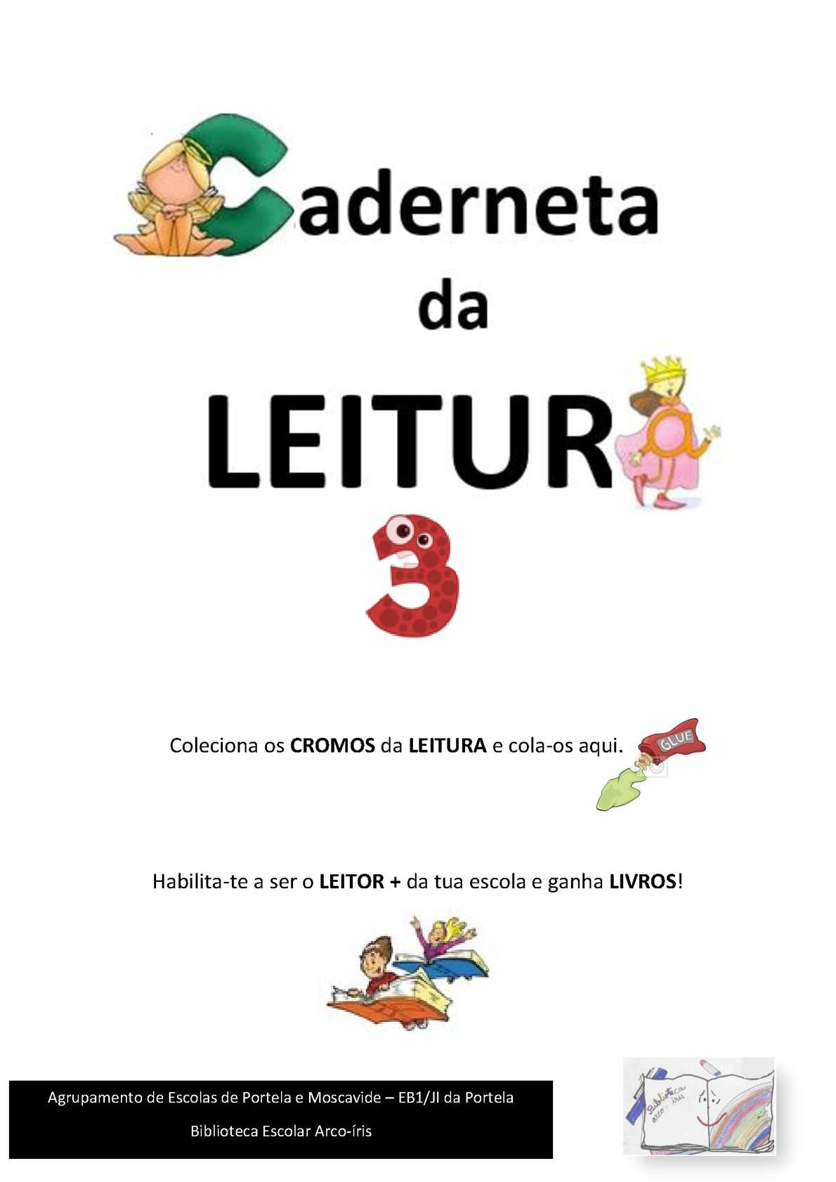 Caderneta da Leitura 3º Ano - EB1/JI da Portela
