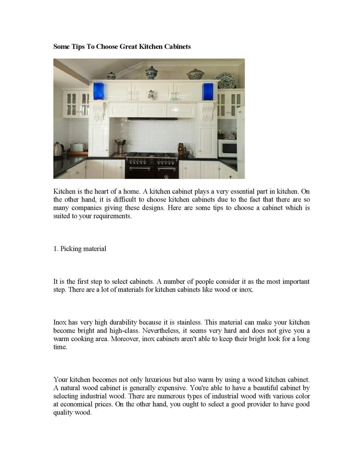 Calaméo Some Tips To Choose Great Kitchen Cabinets