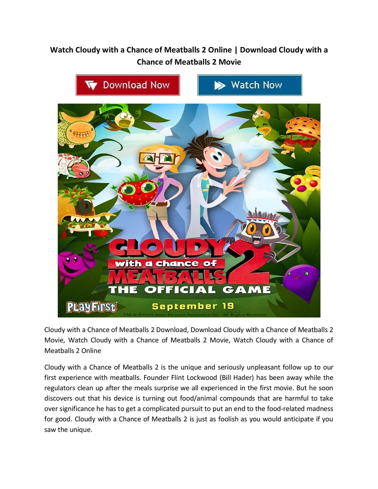 calaméo - spa® watch cloudy with a chance of meatballs 2 online free