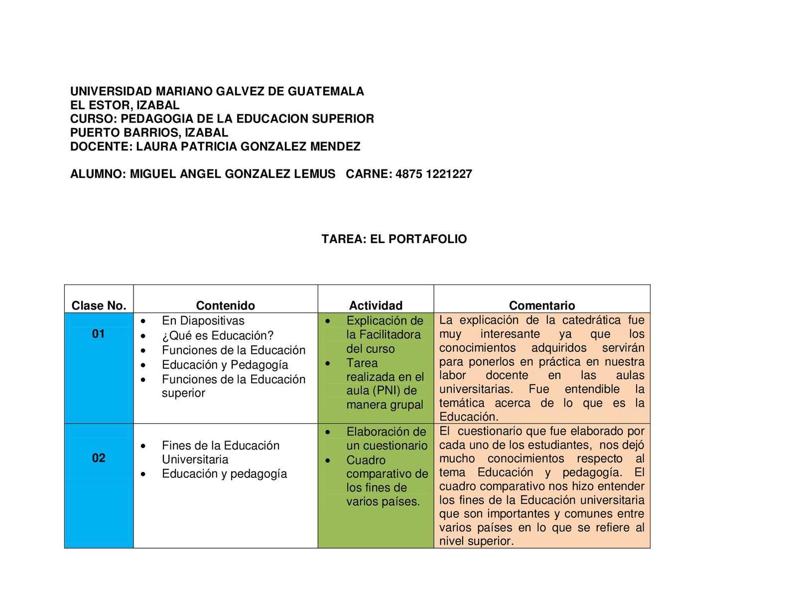 Calaméo - Portafolio de Pedagogía