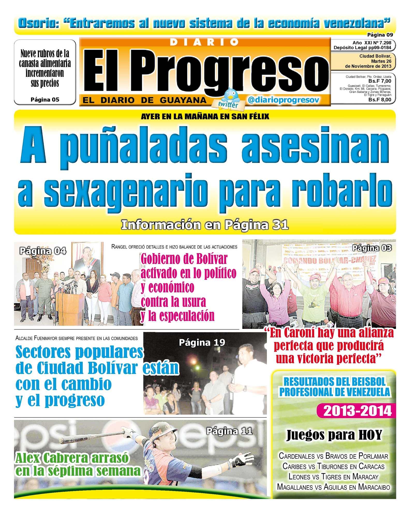 Calaméo - DIARIO EL PROGRESO EDICIÓN DIGITAL 26-11-2013