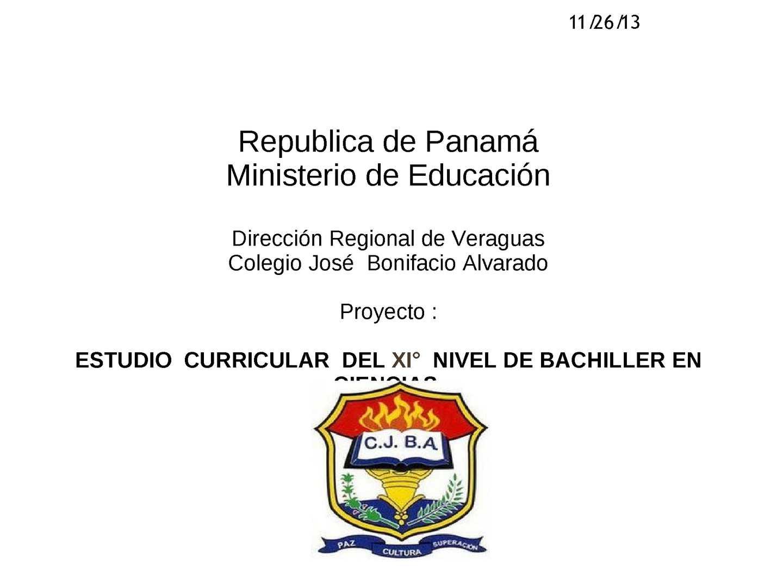 Calam o estudio curricular del xi nivel de bachillerato for Ministerio de educacion plazas
