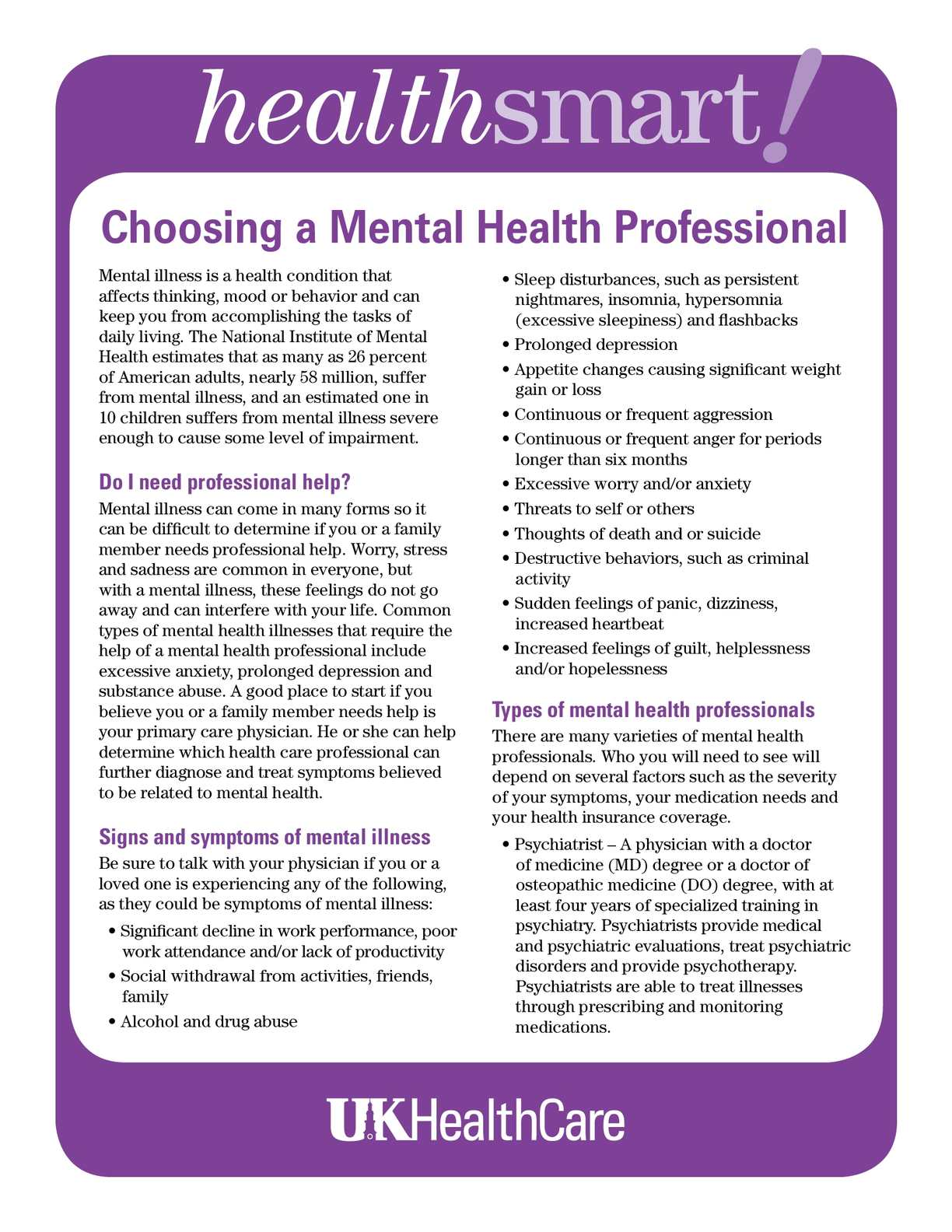 requirements for being a mental health Mental health needs assessment what is being done to ensure that ensure that public • professional licensure requirements do not include infant mental health.
