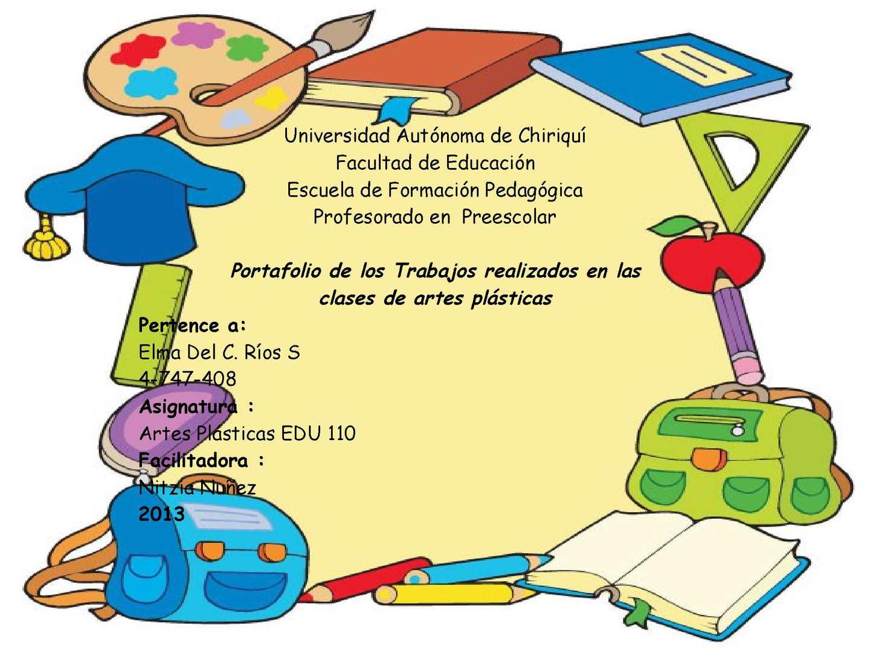Calaméo - Portafolio de todas las clases de artes plásticas