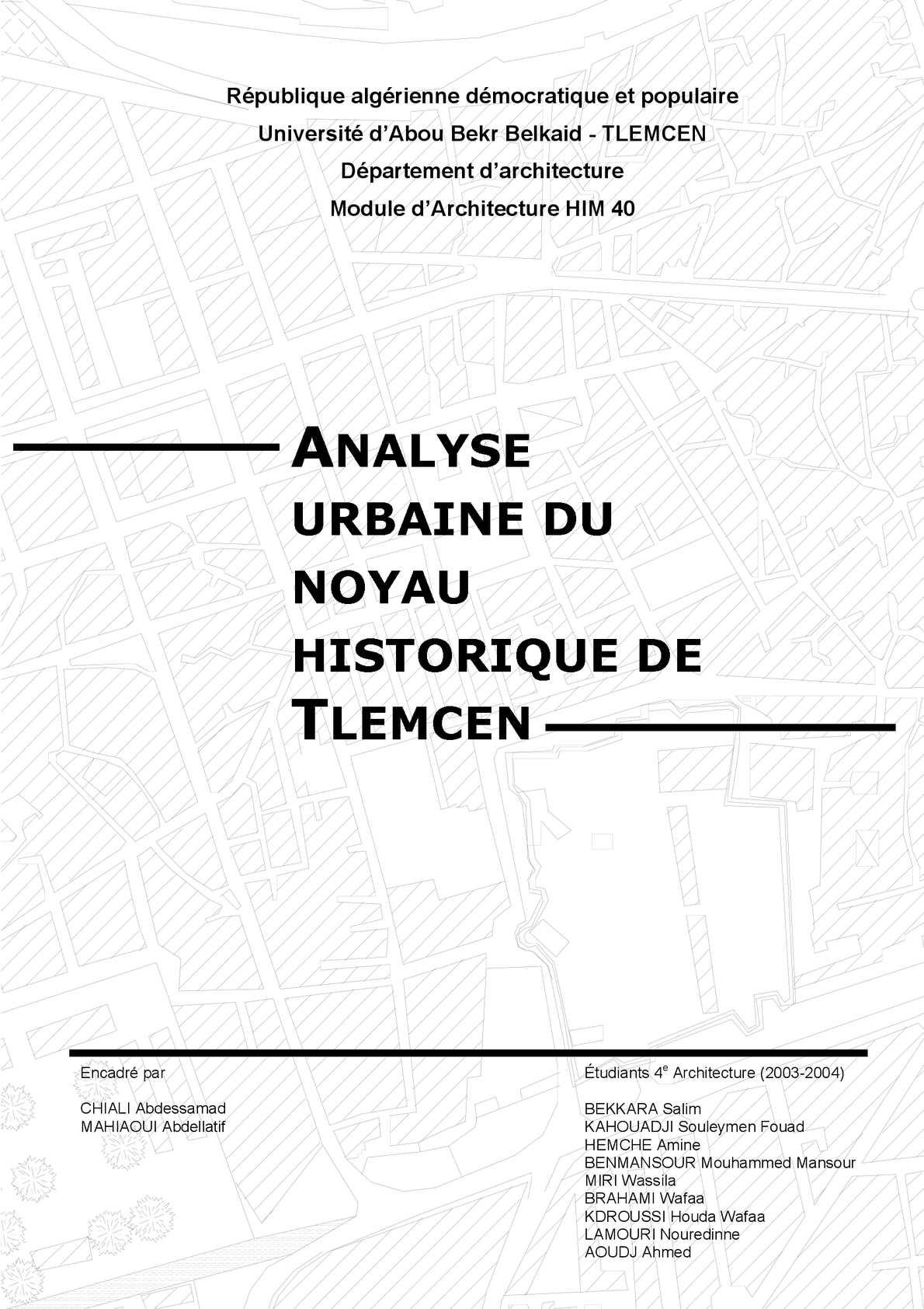 analyse urbaine du noyau historique de Tlemcen.pdf