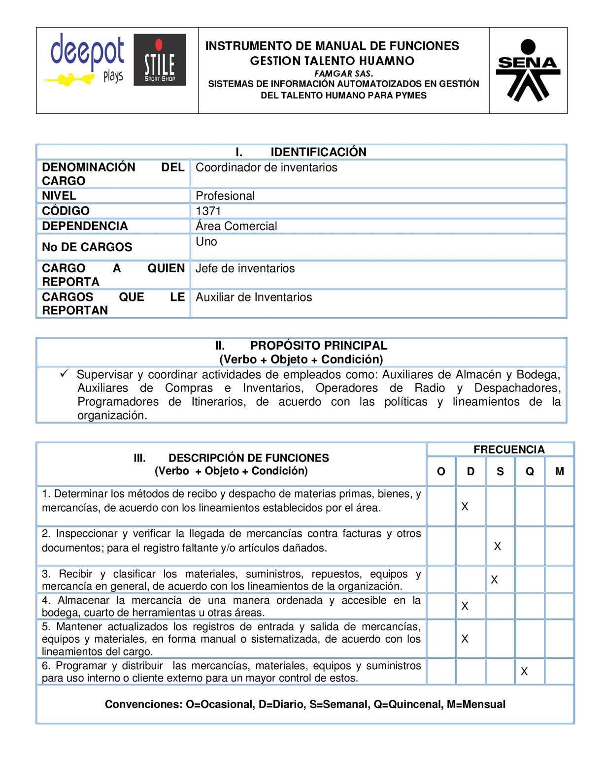 Calam o manual de funciones coordinador de inventarios for Manual de restaurante pdf