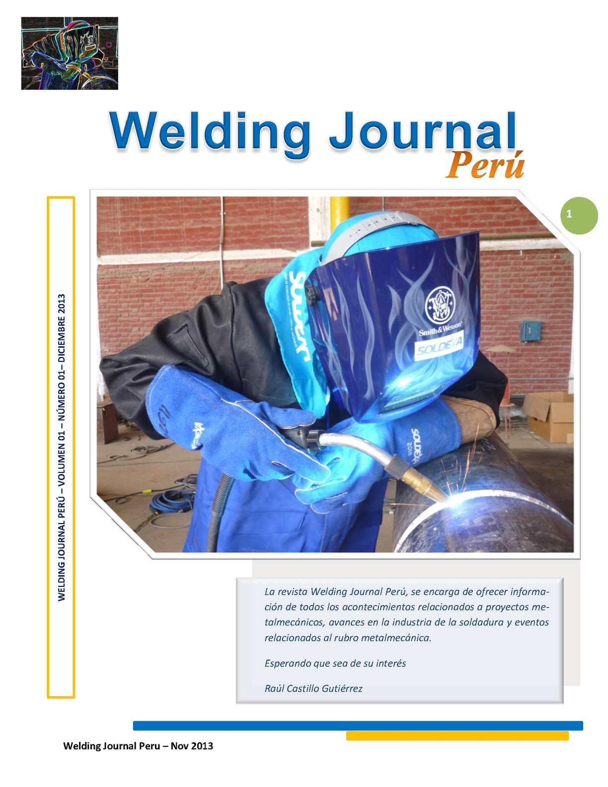 Revista - Welding Journal Perú - Raúl Castillo