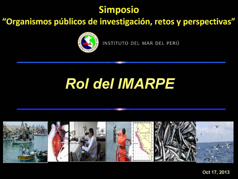 Exposición IMARPE-PCD