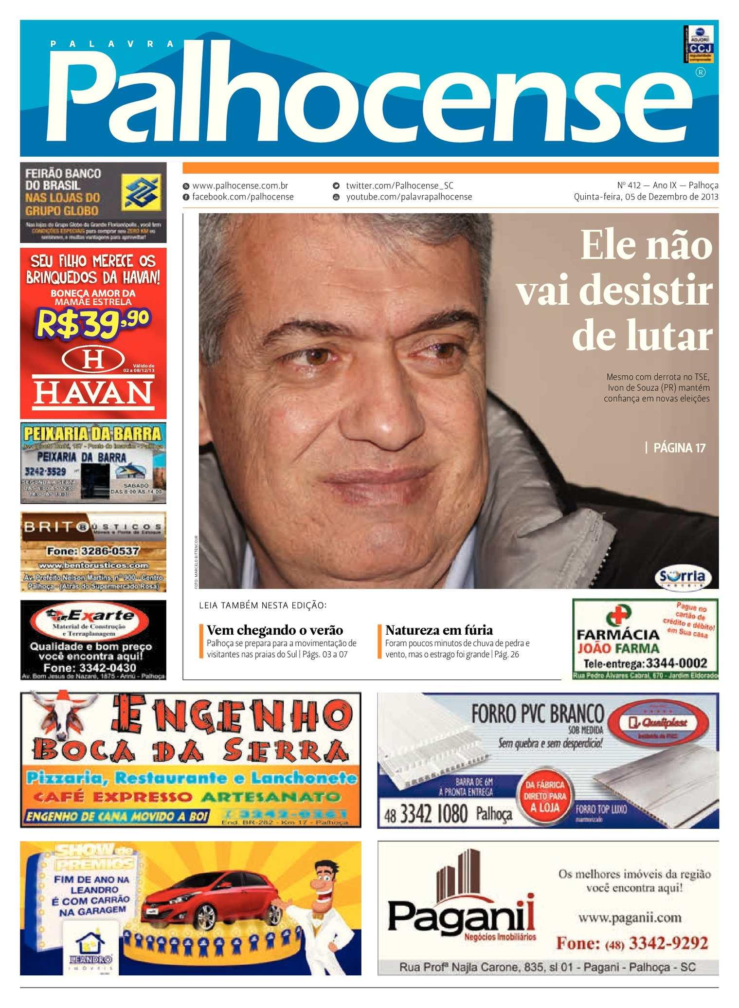2fdccd65be Calaméo - Jornal Palavra Palhocense - Edição 412