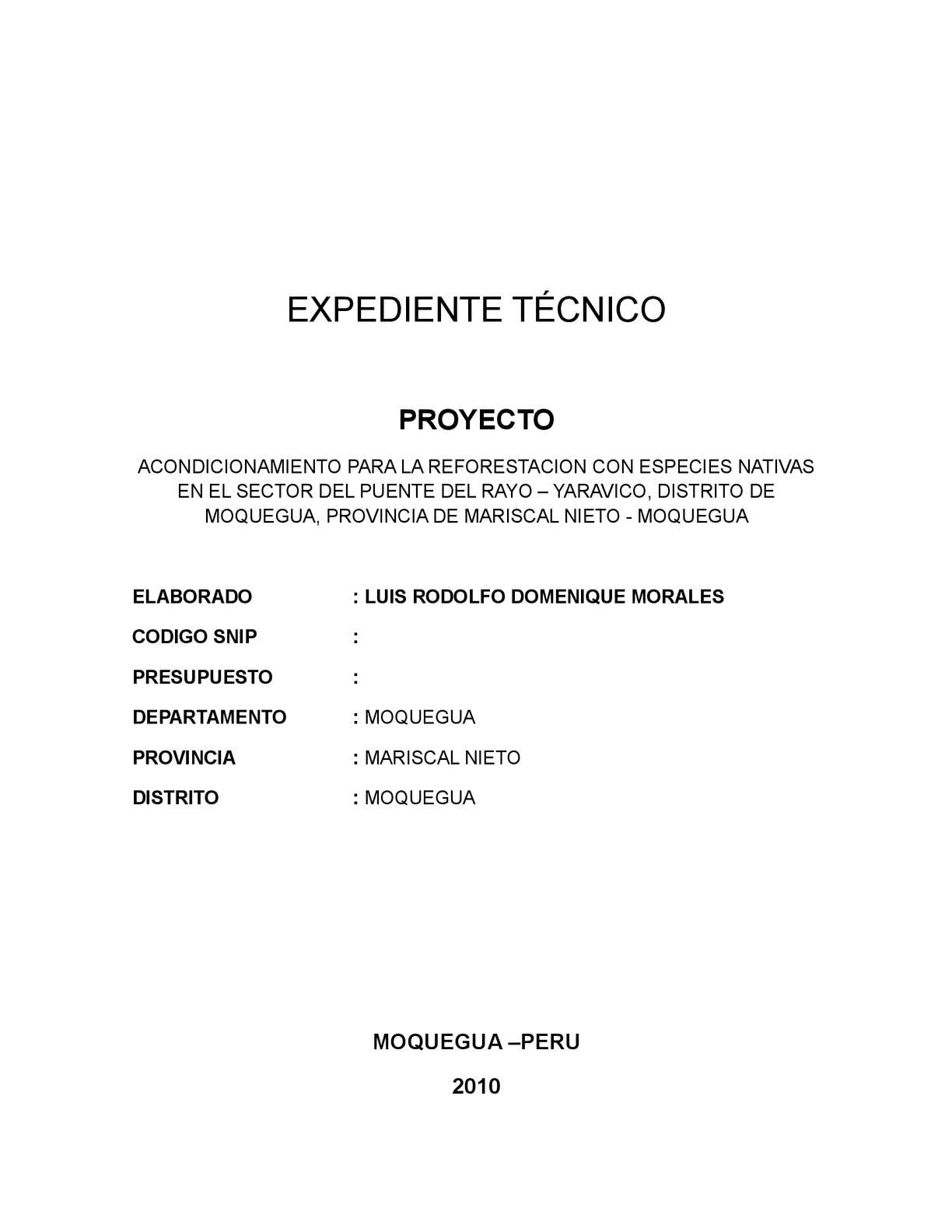 Calaméo - EXPEDIENTE TECNICO