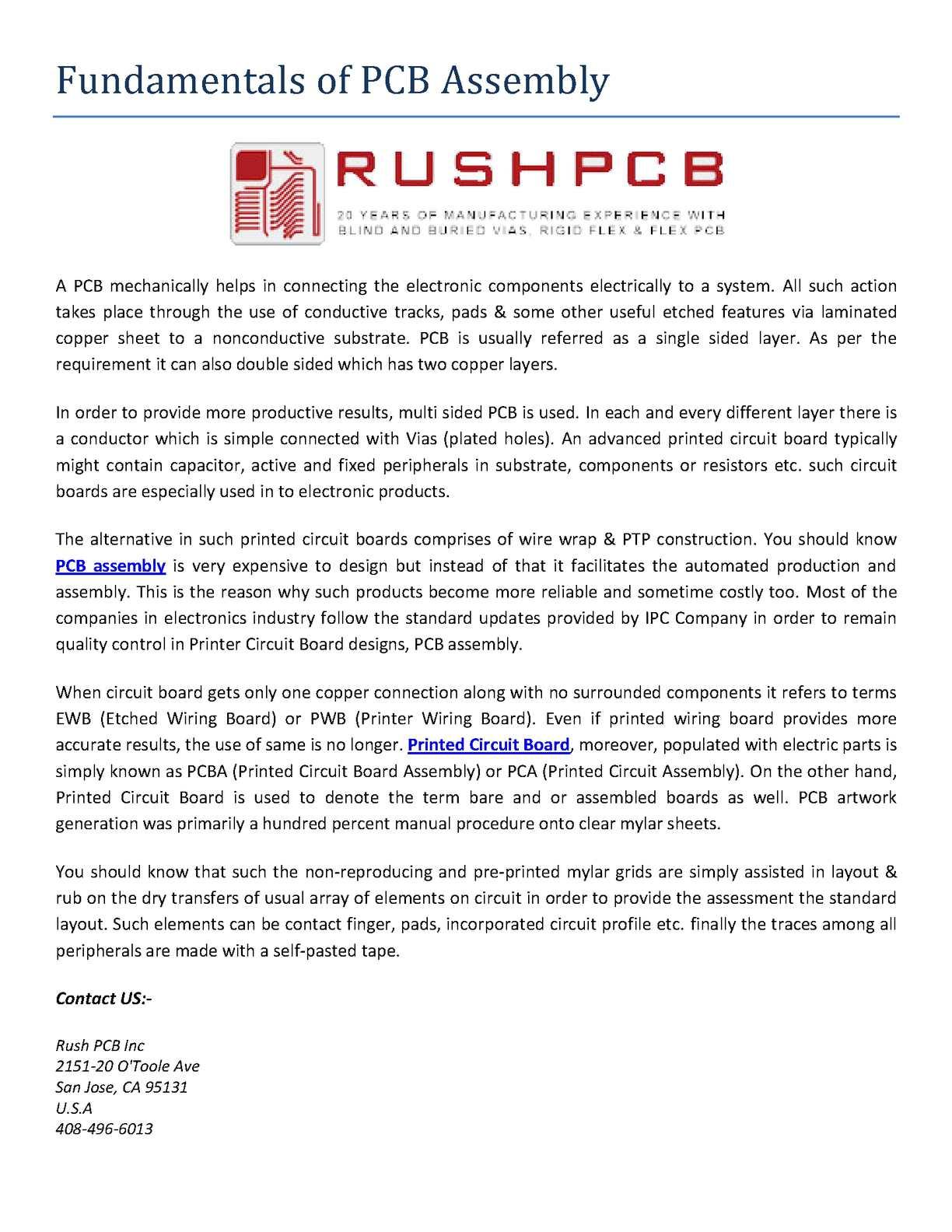 Calamo Fundamentals Of Pcb Assembly Circuit Board Electronic Buy