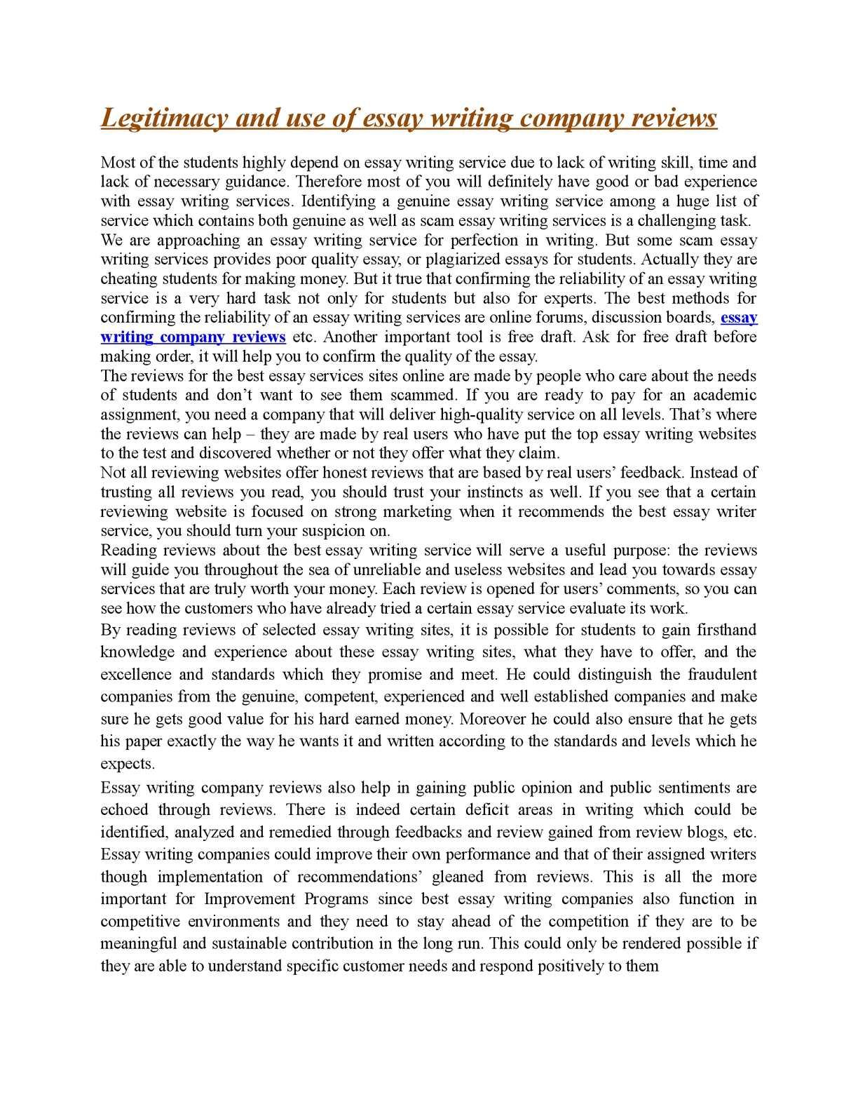 Calamo  Legitimacy And Use Of Essay Writing Company Reviews