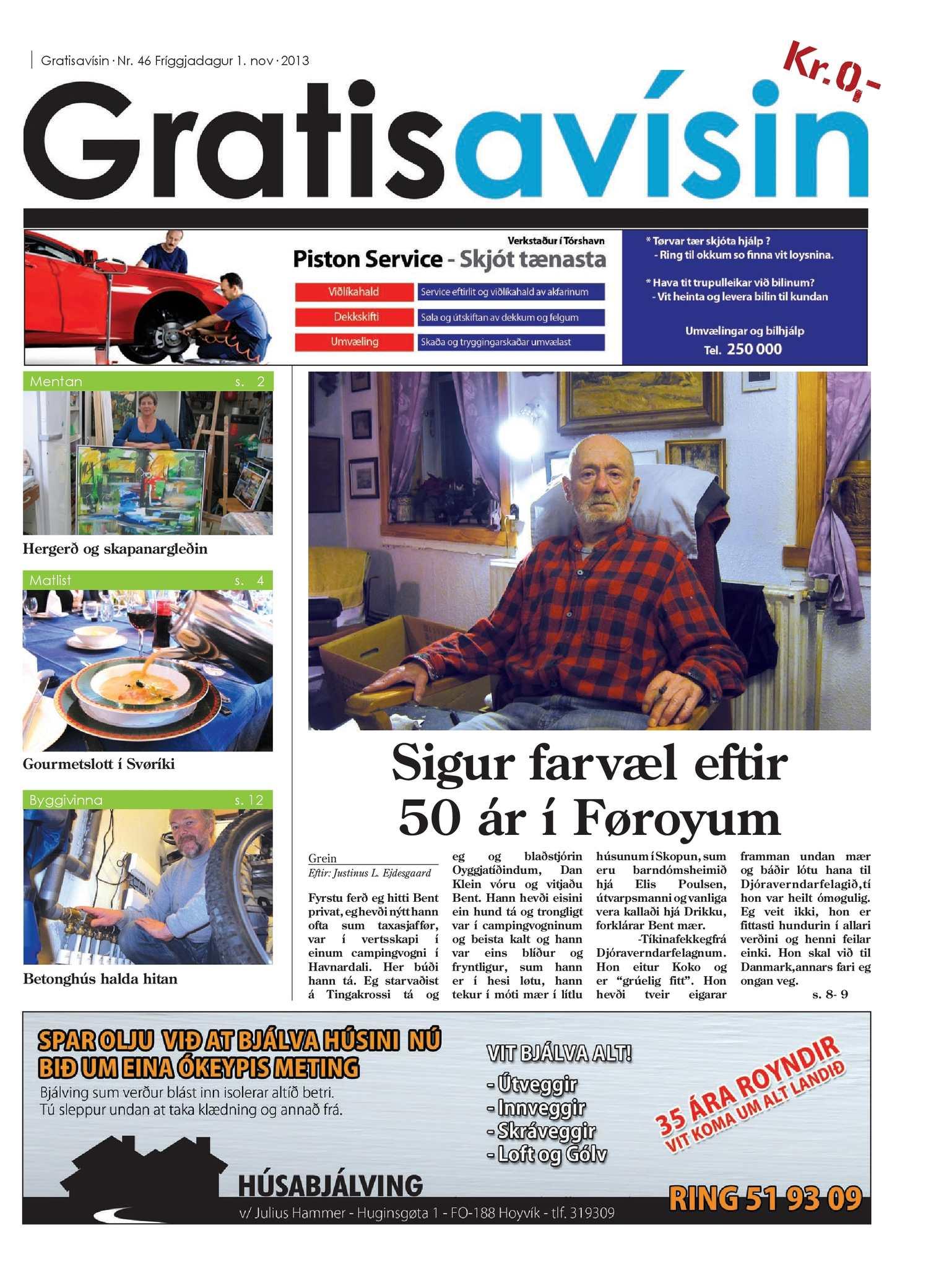 Gratisavísin Nr. 46 - 1. nov. 2013