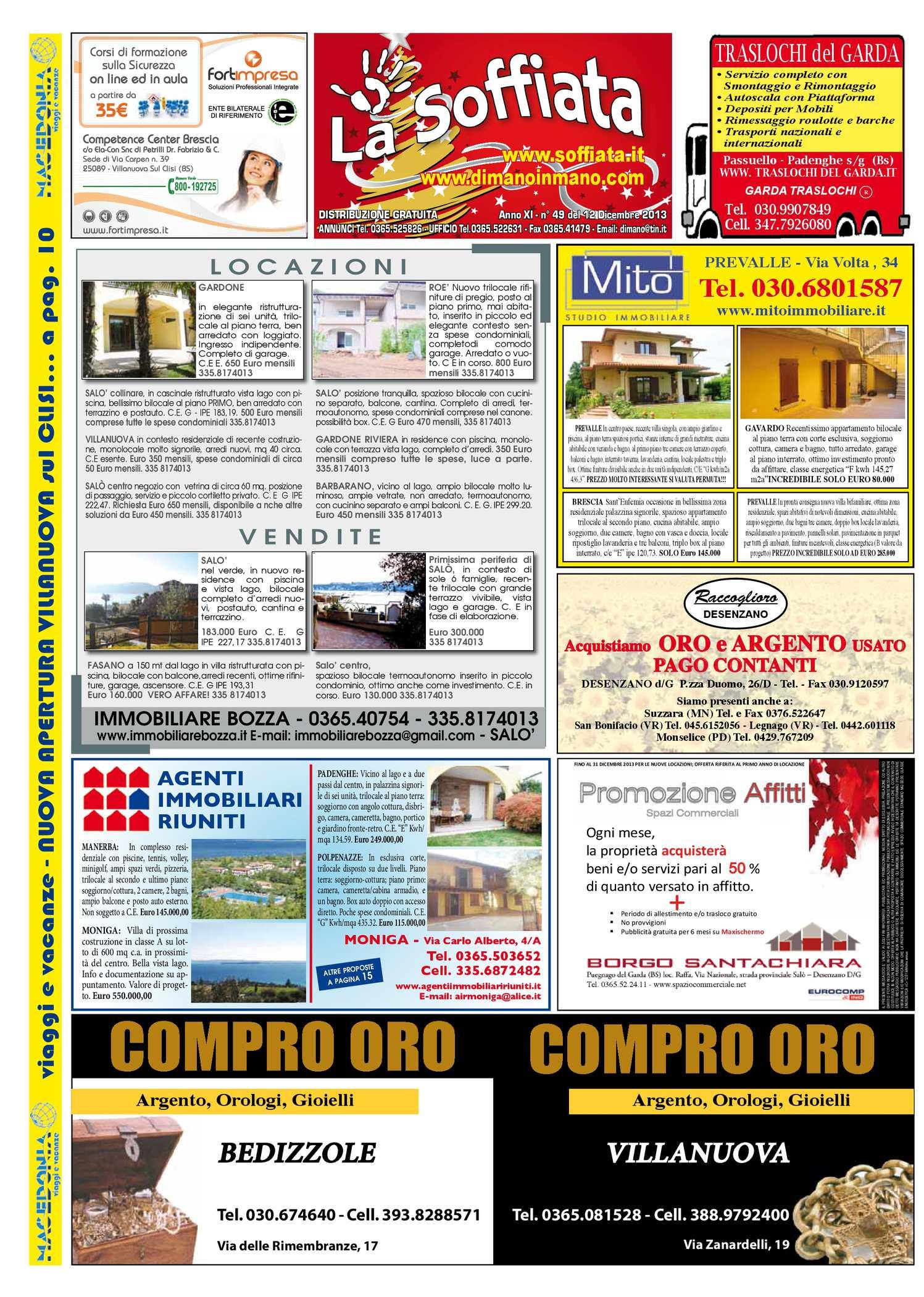 calaméo - la soffiata 12-12-2013 - Bel Divano In Pelle Posteriore Con Sedili Imbottiti Armi
