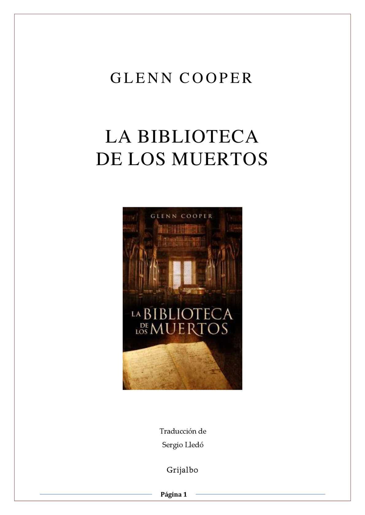 Calaméo - GLENN COOPER-LA BIBLIOTECA DE LOS MUERTOS