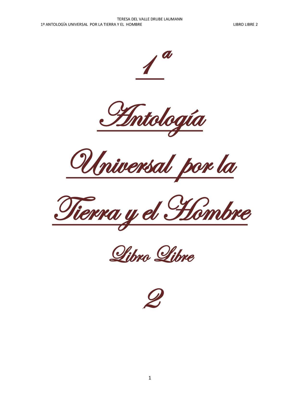 Calaméo - 1a Antologia Universal por la tierra y el hombre Libro 2