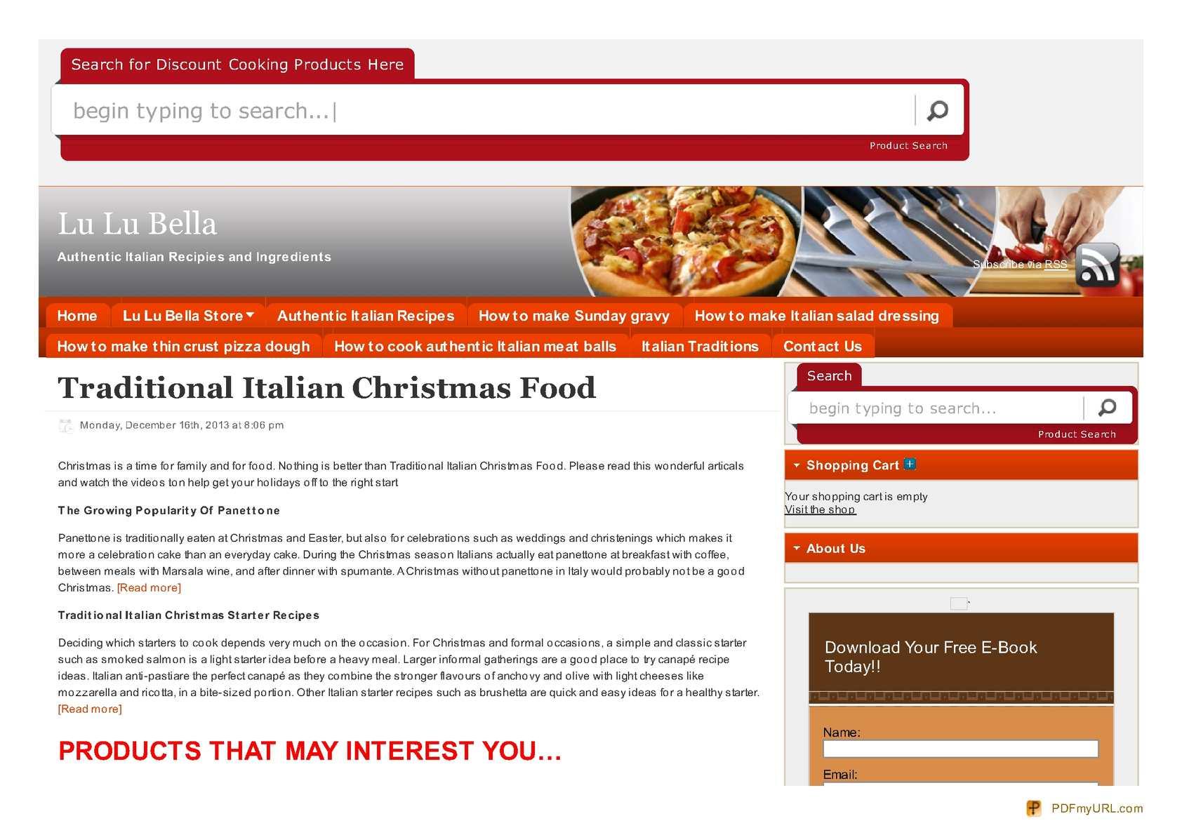 Calaméo - Traditional Italian Christmas Food