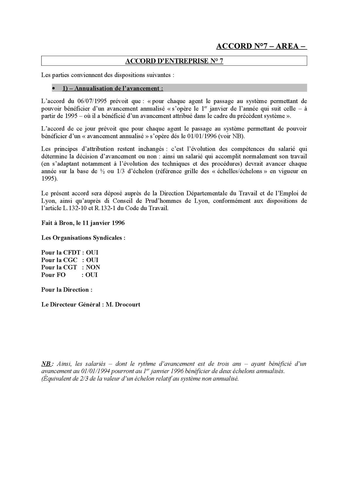 Calameo Accord N 7 Area Avancement