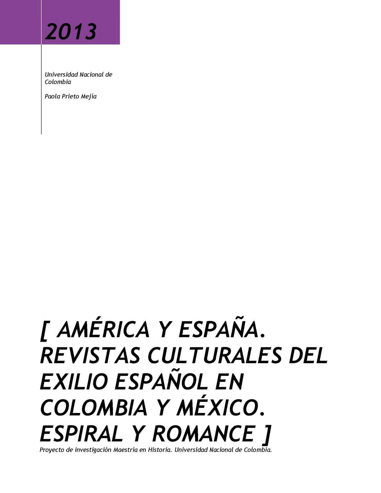 Calaméo - AMÉRICA Y ESPAÑA. REVISTAS CULTURALES DEL EXILIO ESPAÑOL ...