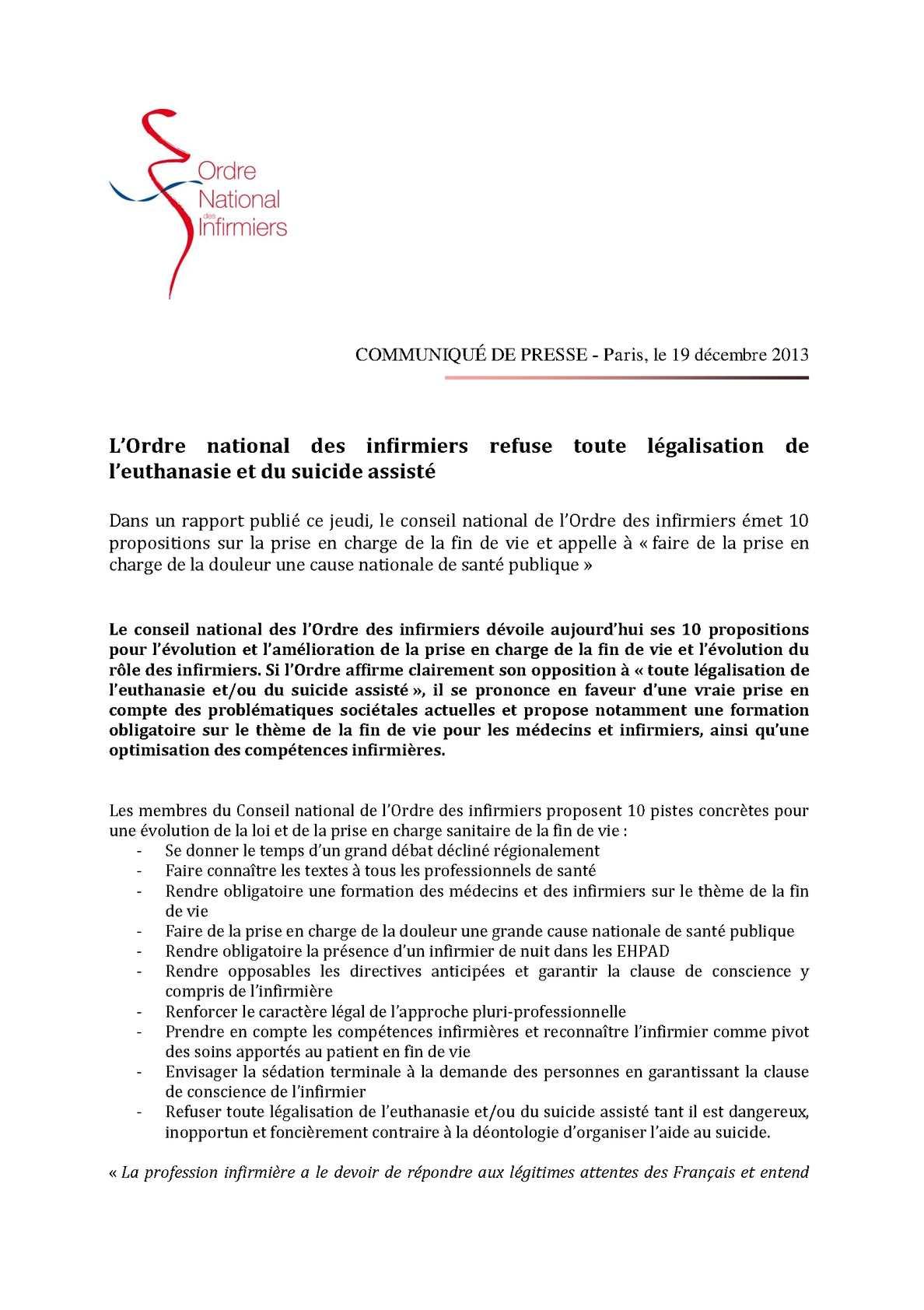 Calameo L Ordre National Des Infirmiers Refuse Toute Legalisation