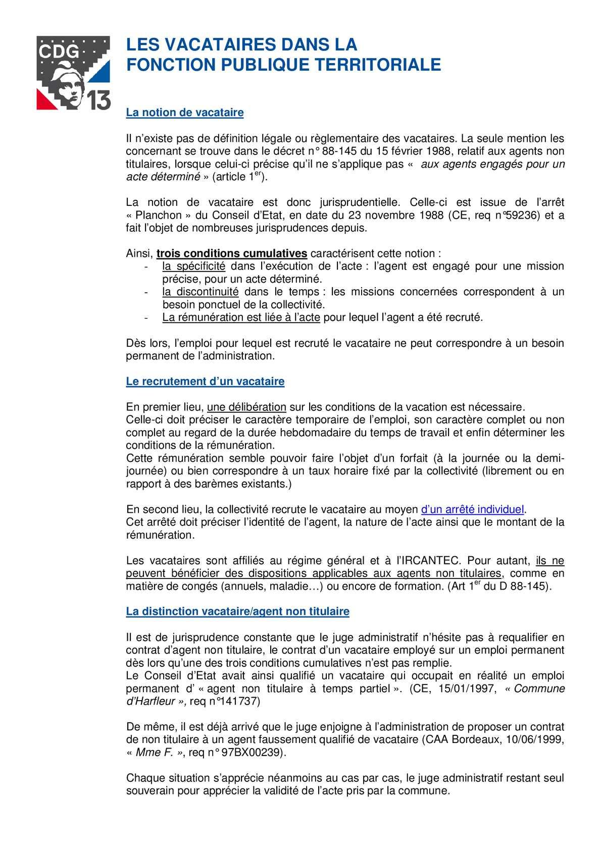 Calam o gayraud dominique vacataires fonction publique - Grille d avancement fonction publique territoriale ...