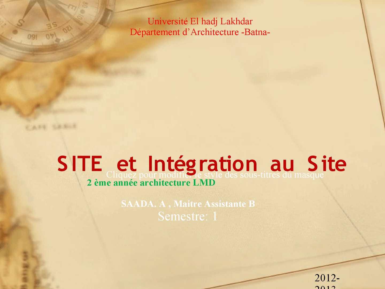 cour integration au site batna