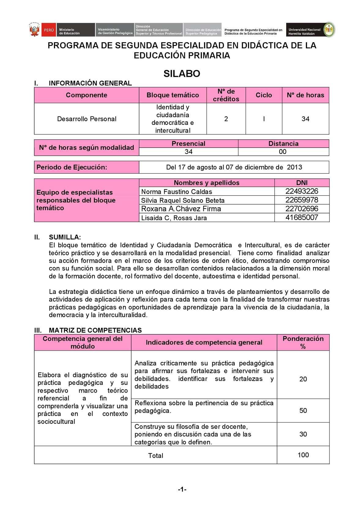 Calaméo - SILABO BLOQUE TEMATICO CIUDADANIA