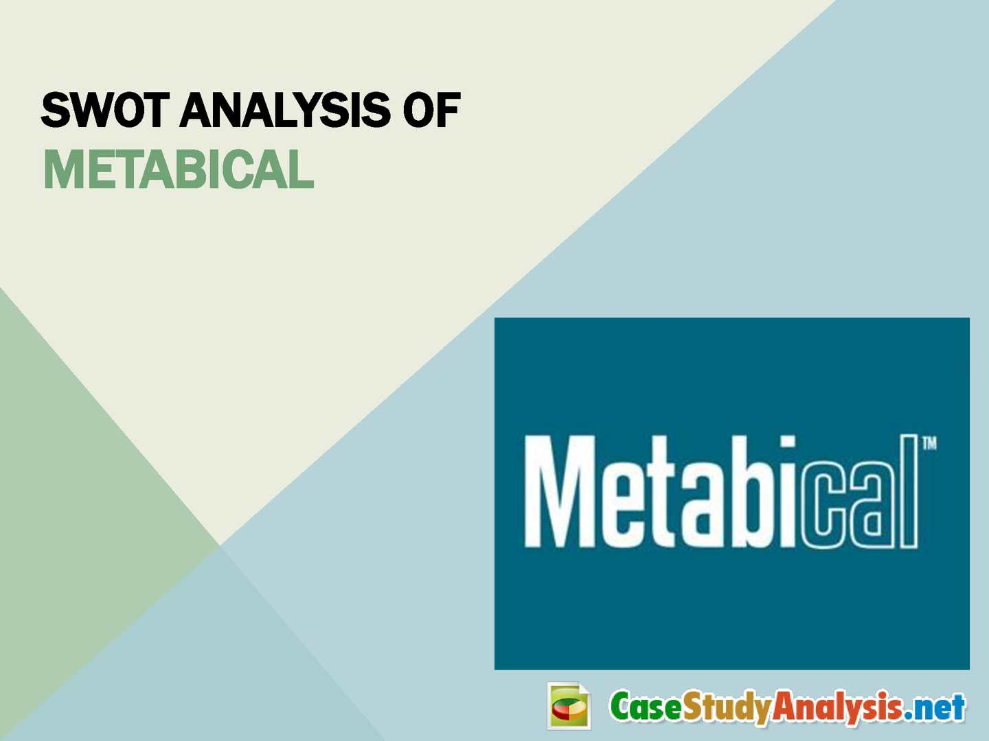 marketing metabical case Marketing (2,939) media studies metabical co pricing policy case study csp's metabical would be the first prescription drug approved specifically for.