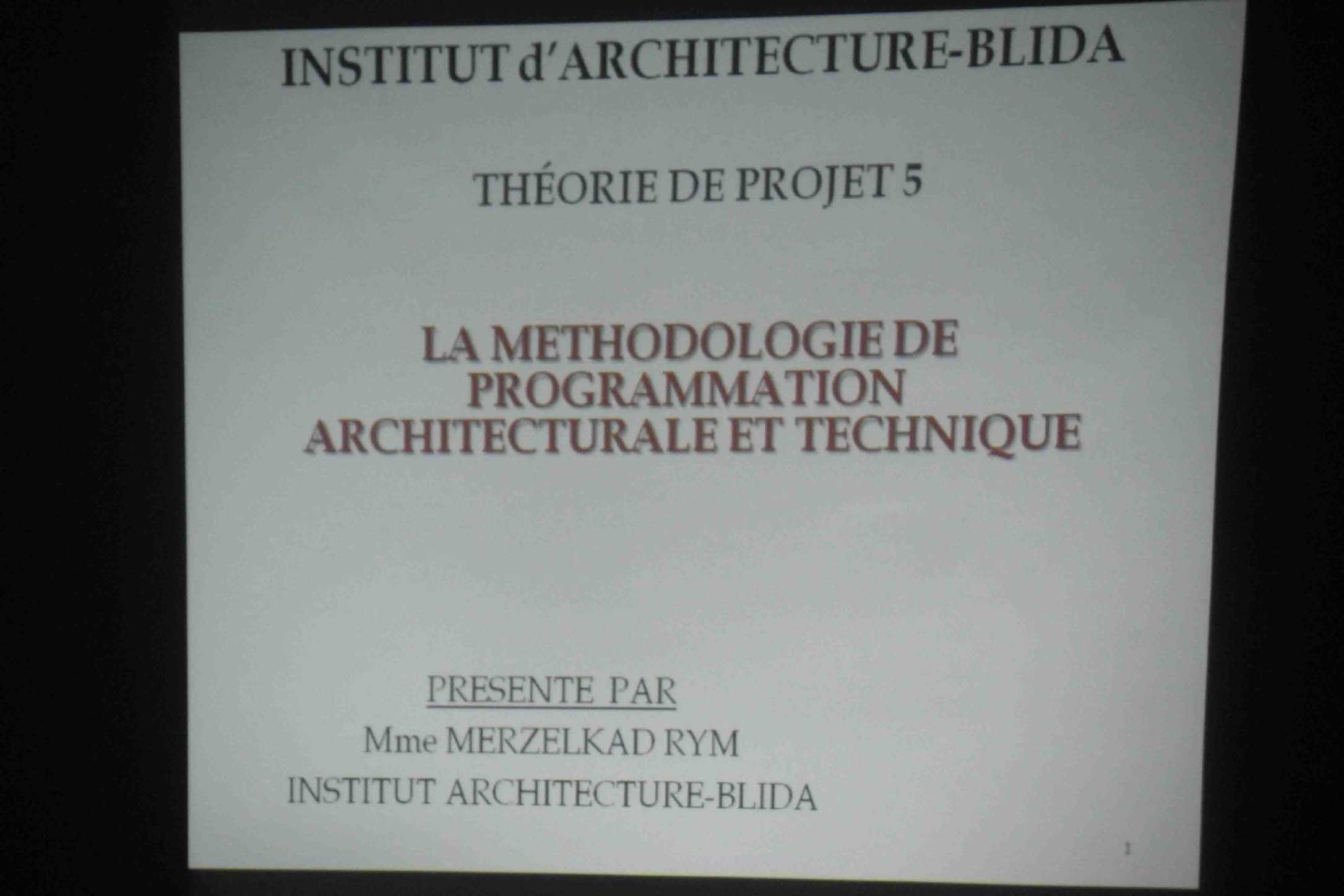 la methodologie de programmation architecturale et technique