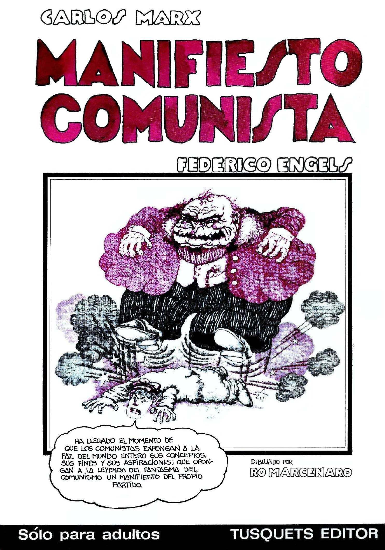 Manifiesto Comunista Mark y Engles comic