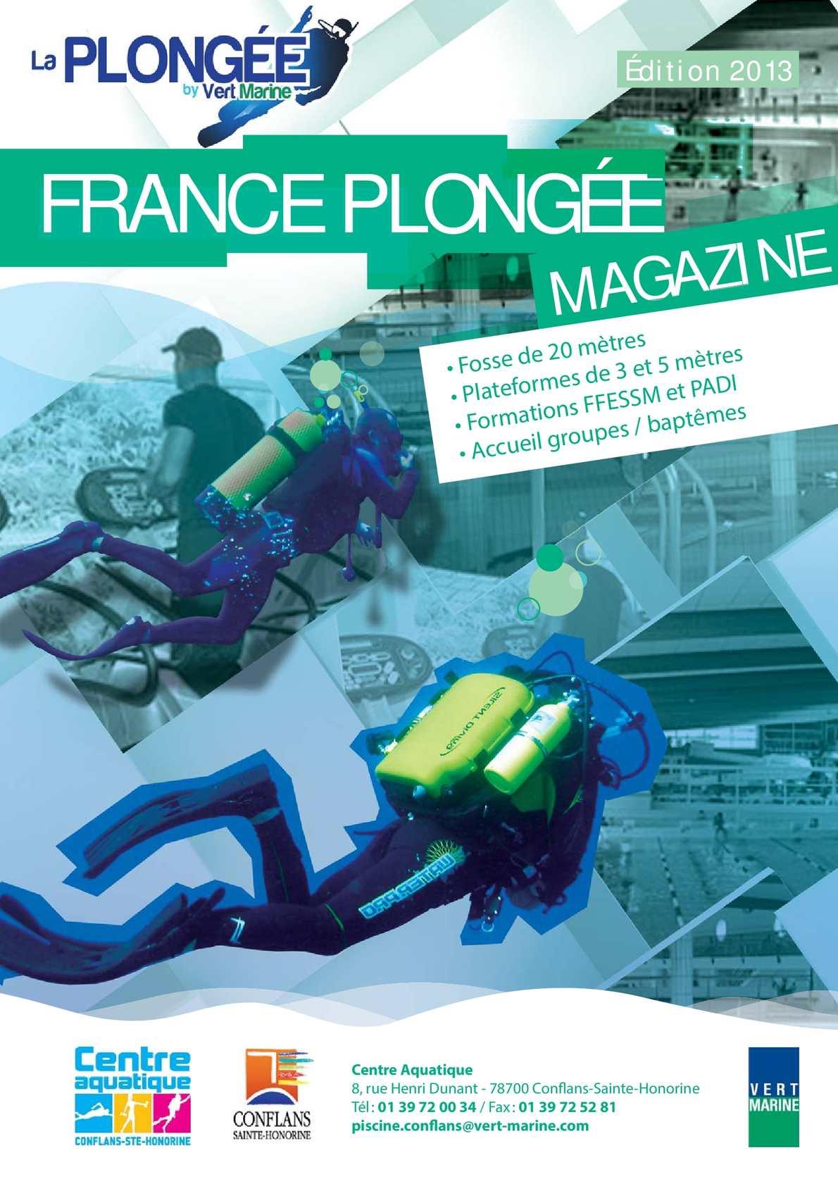 Calam o magazine france plong e du centre aquatique de for Piscine conflans sainte honorine