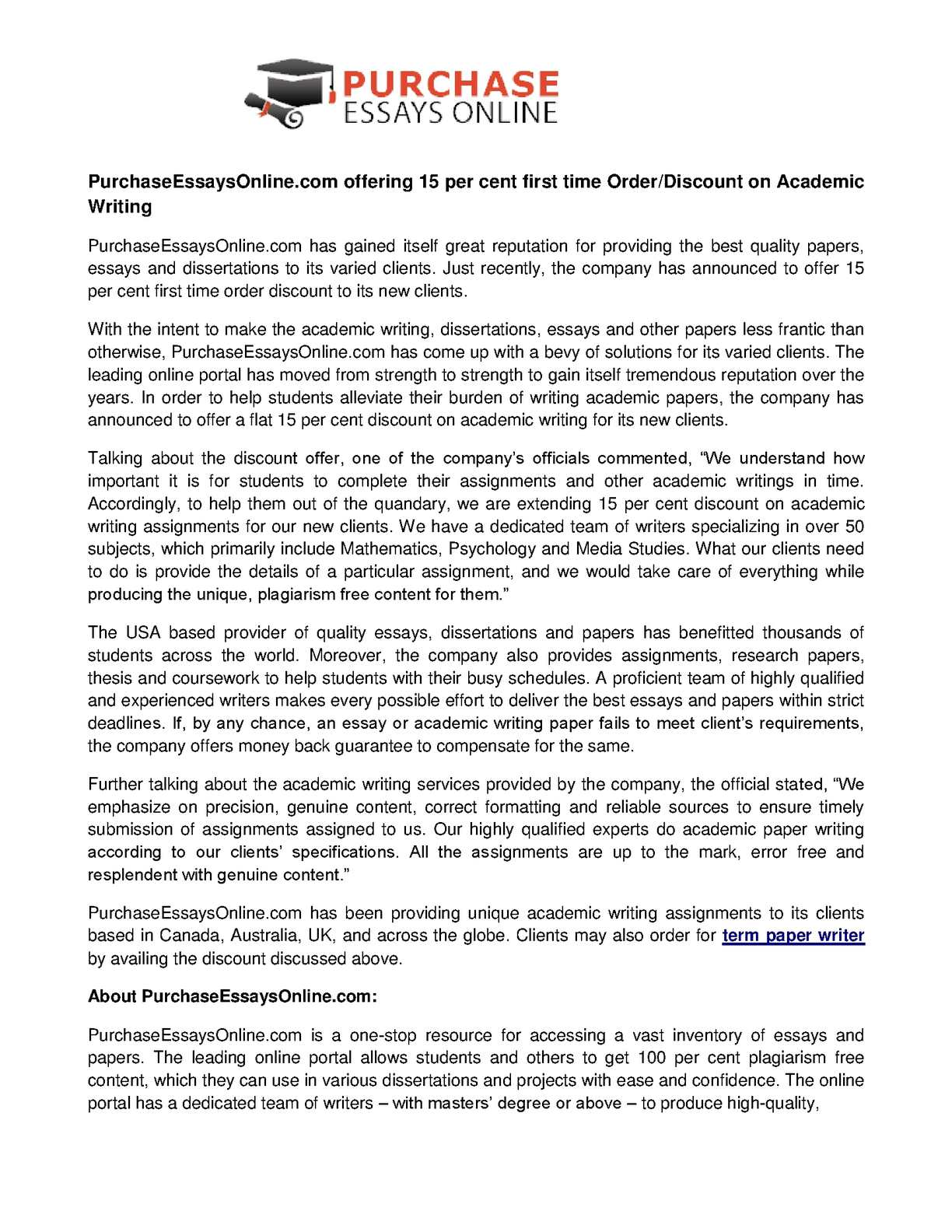 How To Write A High School Essay Calamo  Purchaseessaysonlinecom Offering  Per Cent First Time Order  Discount On Academic Writing Health And Fitness Essays also Essay Writing Thesis Statement Calamo  Purchaseessaysonlinecom Offering  Per Cent First Time  Science Development Essay
