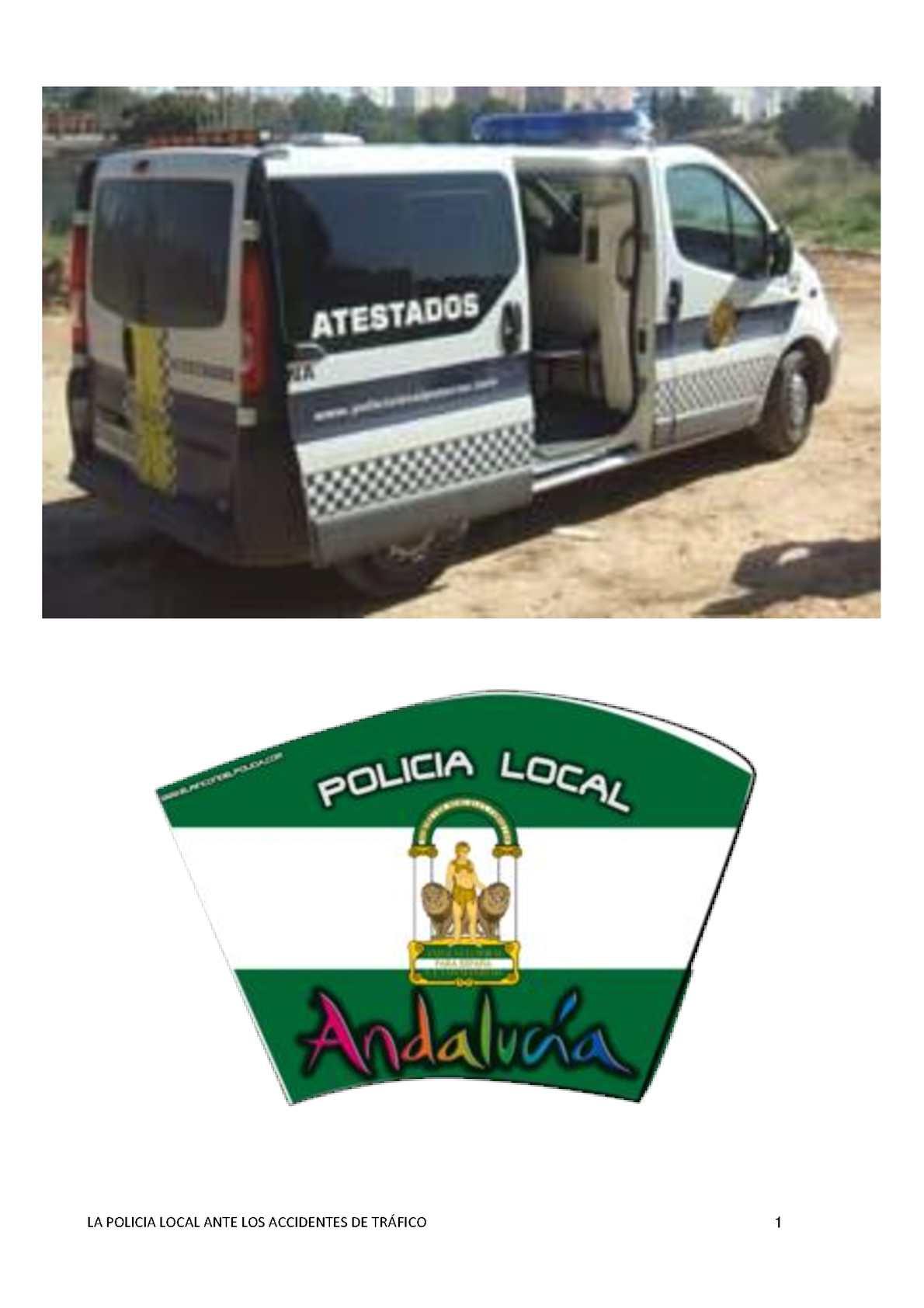 Calaméo - LA POLICÍA LOCAL ANTE LOS ACCIDENTES DE TRÁFICO